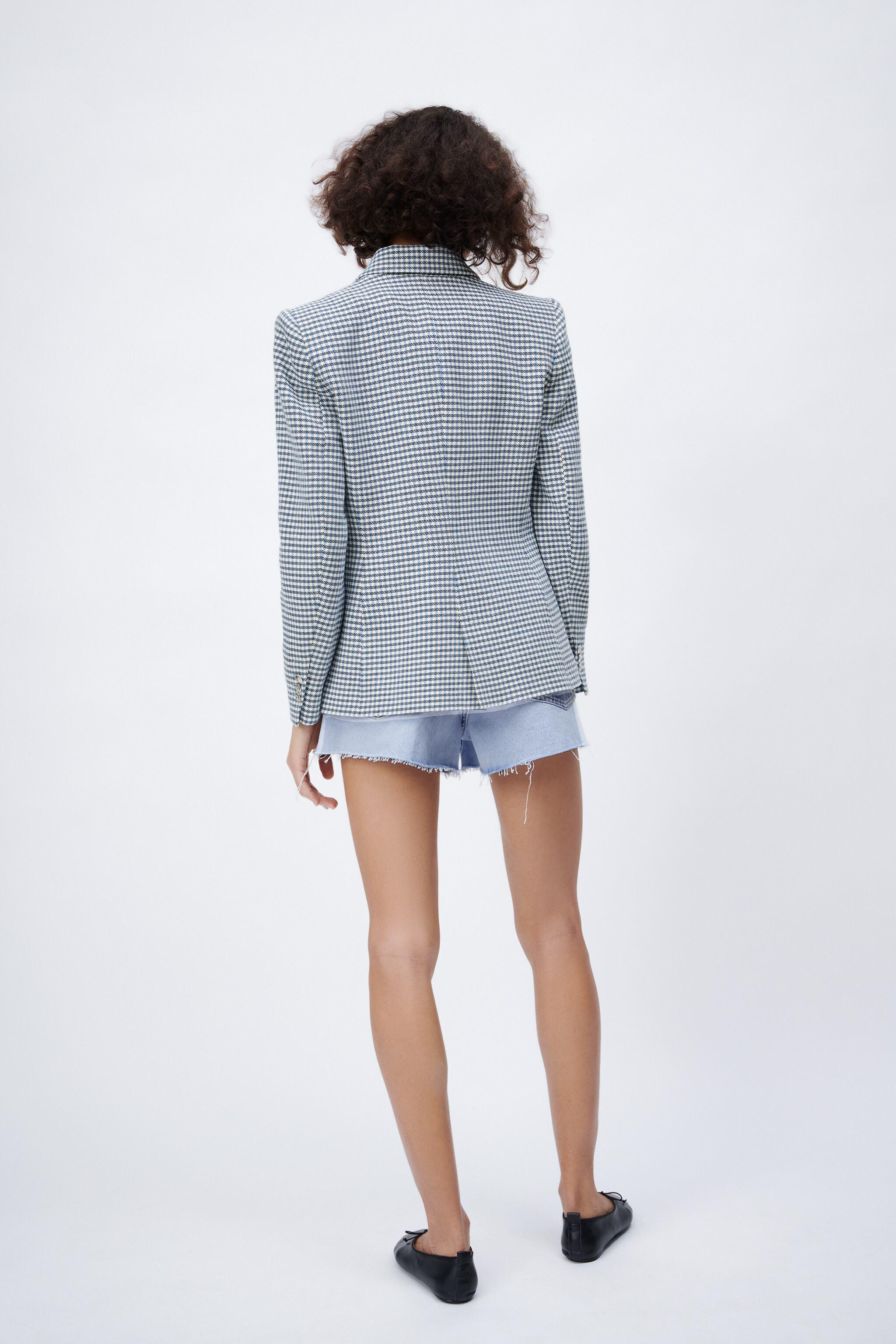 DOUBLE BREASTED HOUNDSTOOTH BLAZER 3