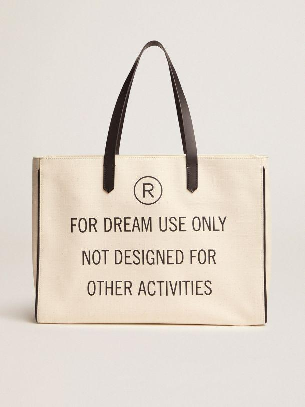 """""""For dream use only"""" East-West California Bag"""