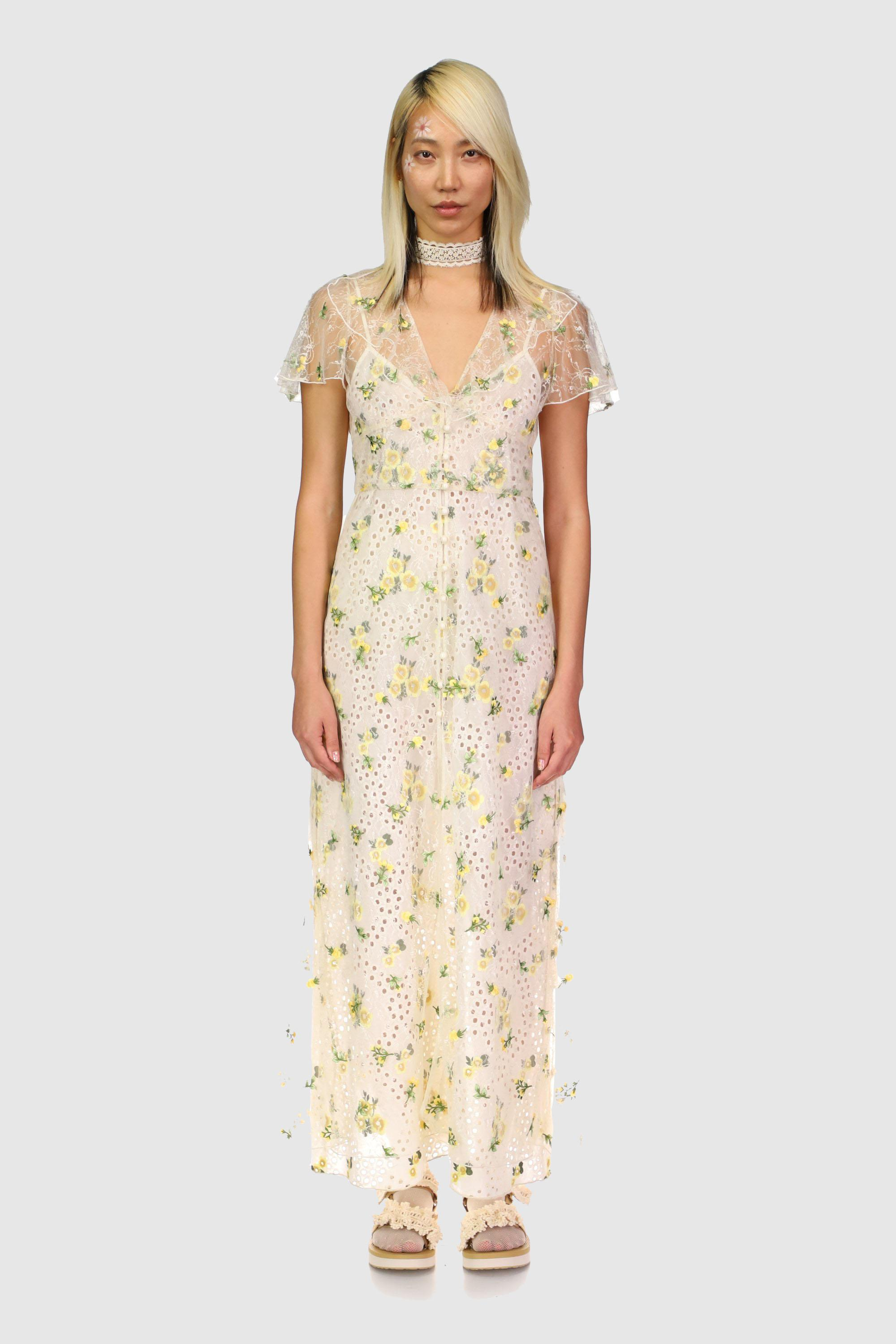 Scattered Blooms Lace Cover Up 0