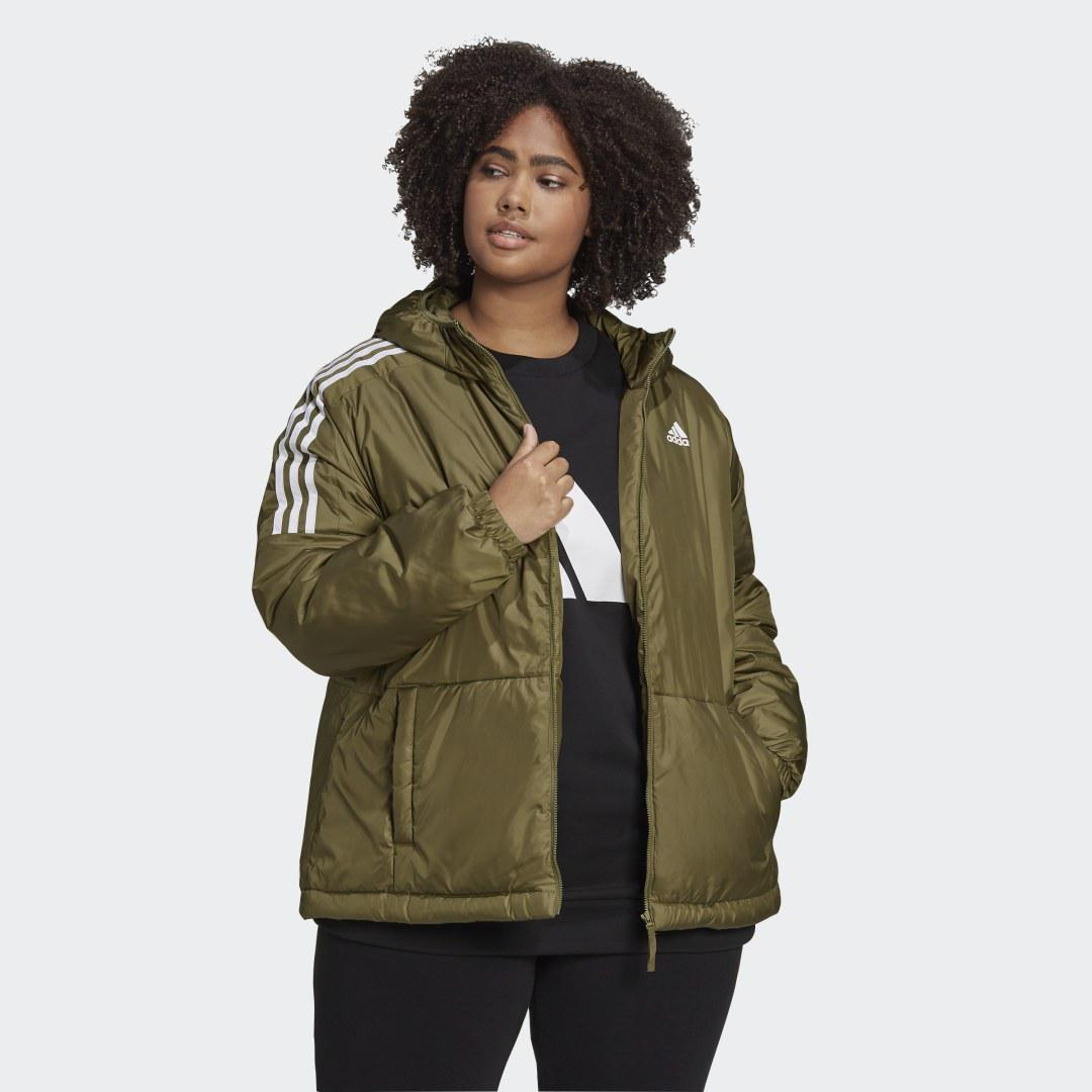 Essentials Insulated Hooded Jacket (Plus Size) Focus Olive