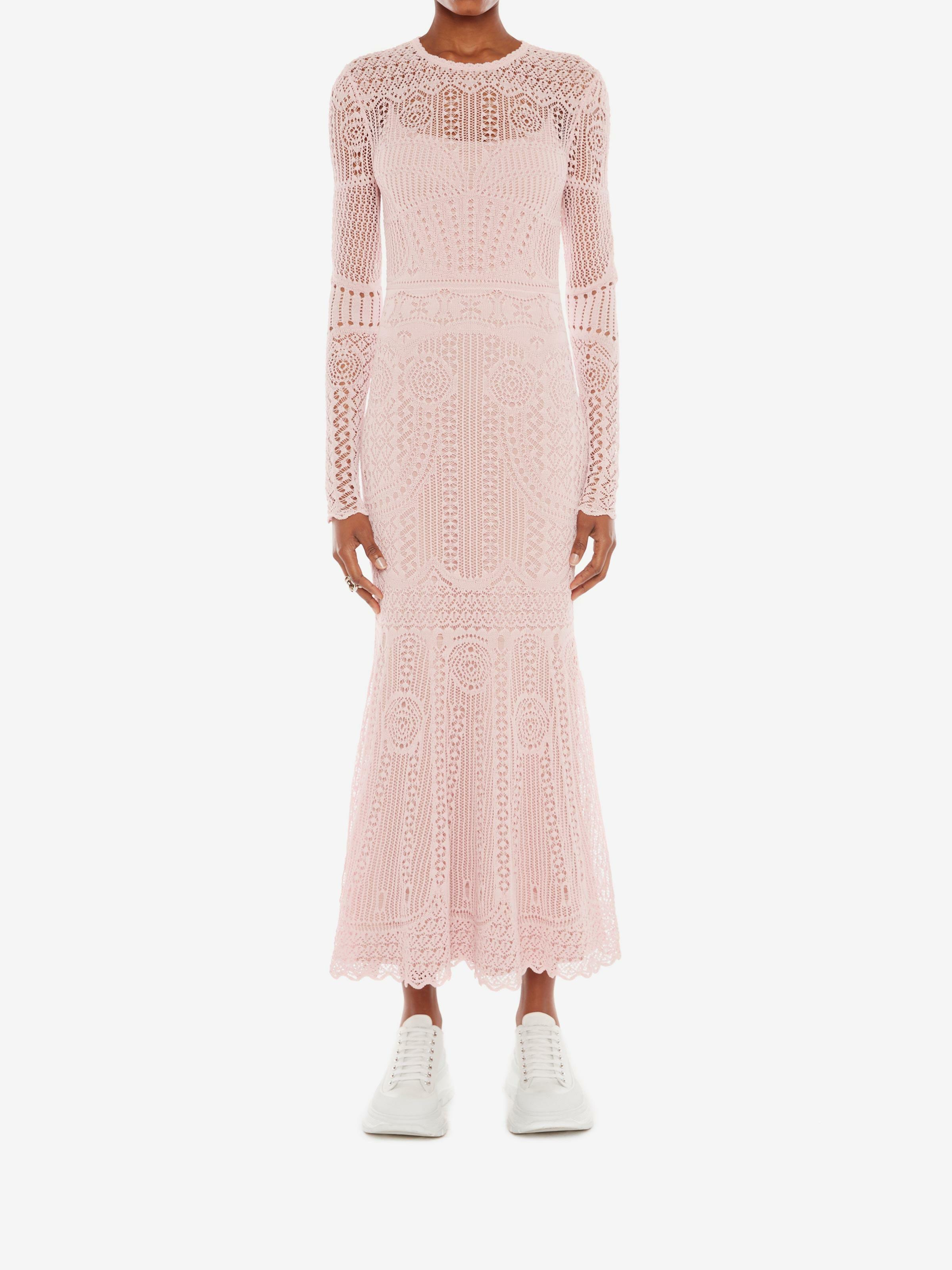 Patchwork Lace Knitted Dress