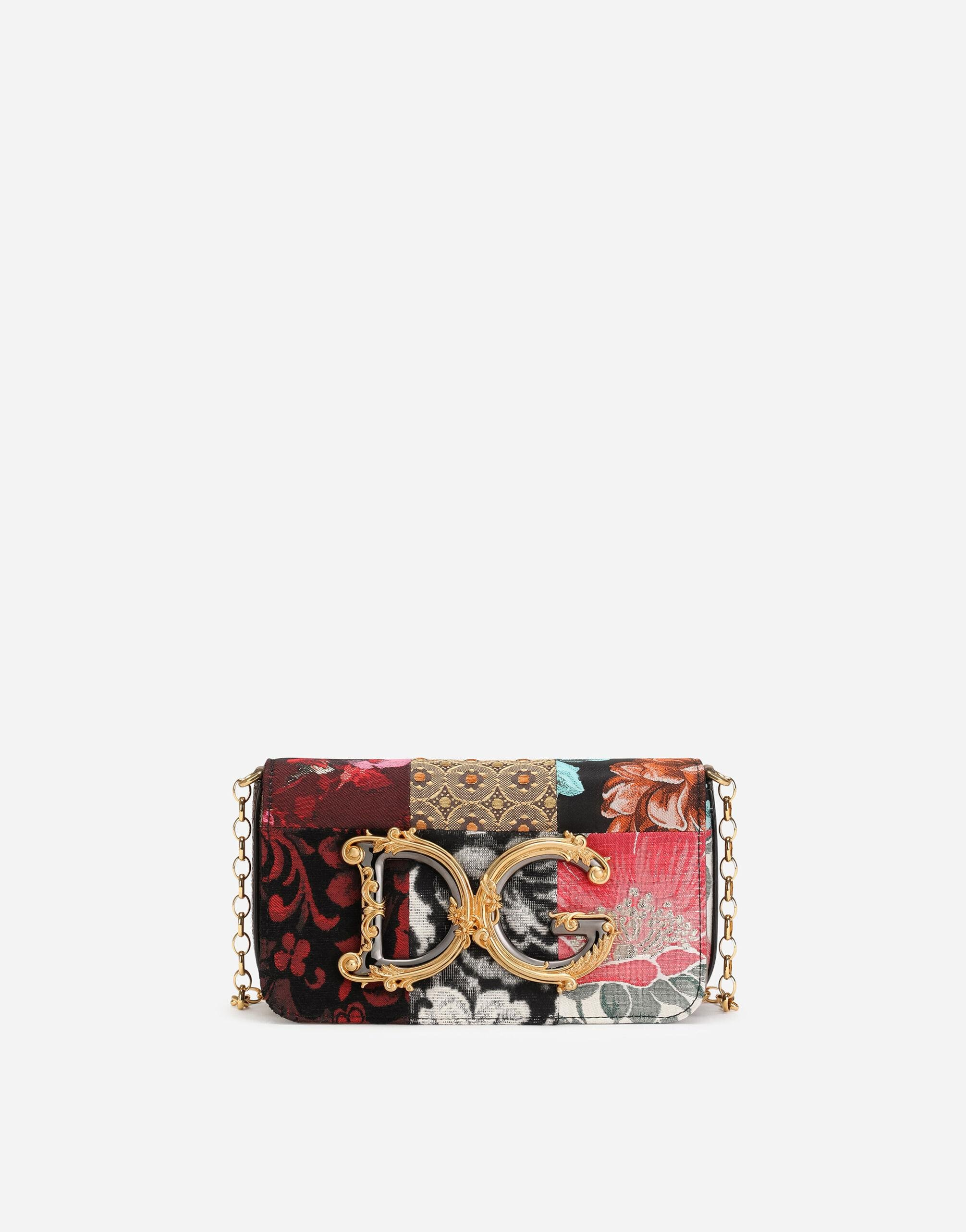 DG Girls clutch in patchwork fabric and ayers