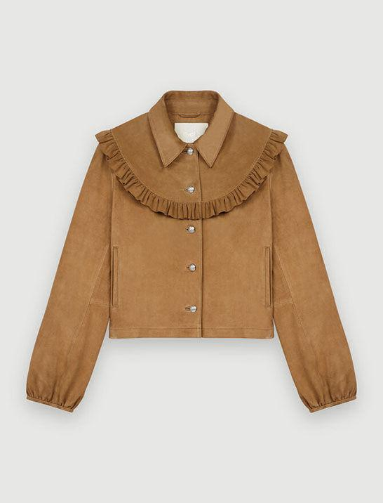 SUEDE JACKET WITH RUFFLES 4