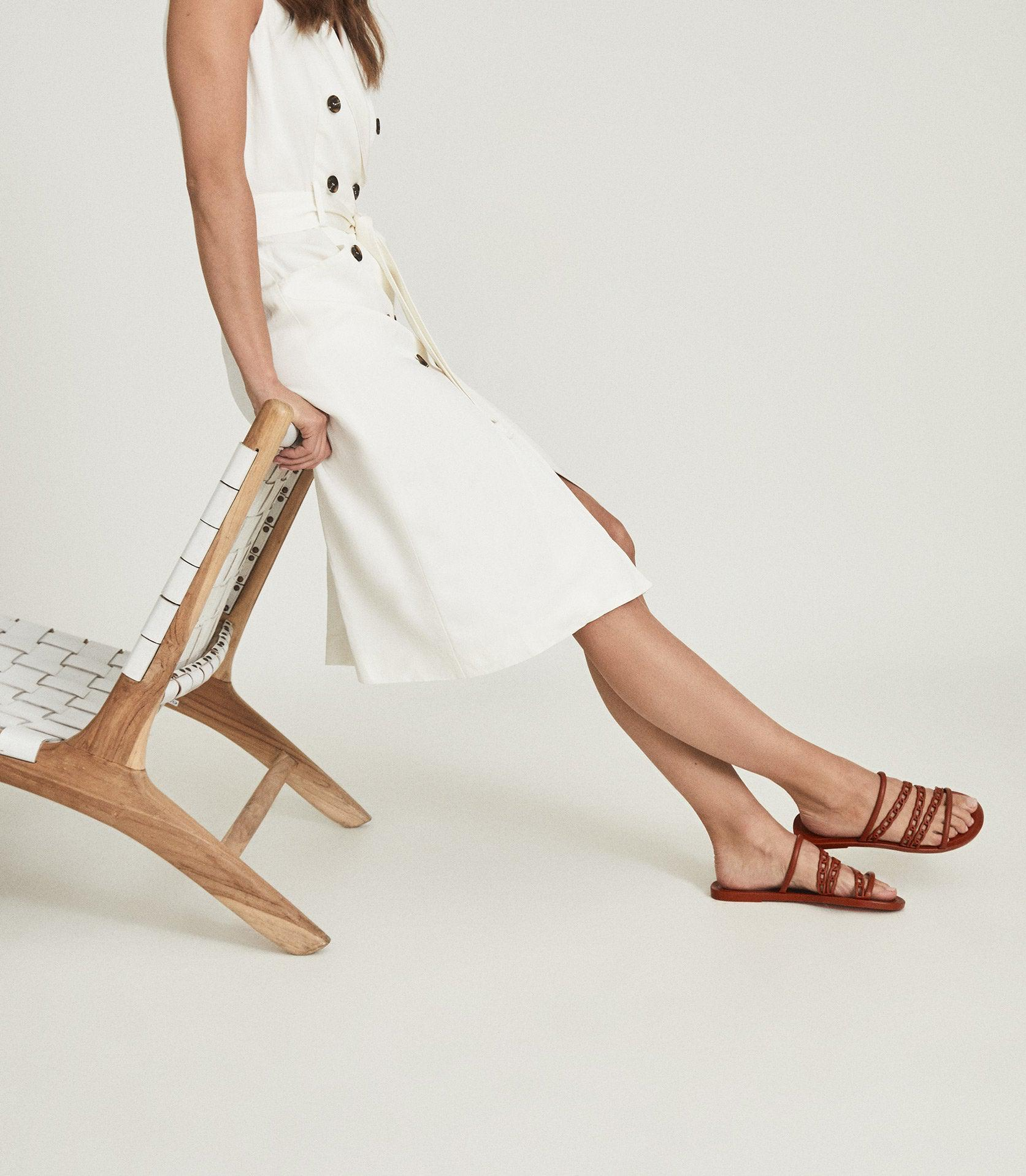 MAGDA - CHAIN DETAIL JELLY SANDALS 4