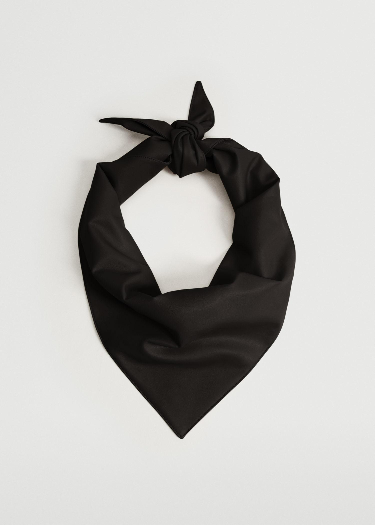 Faux leather scarf 1