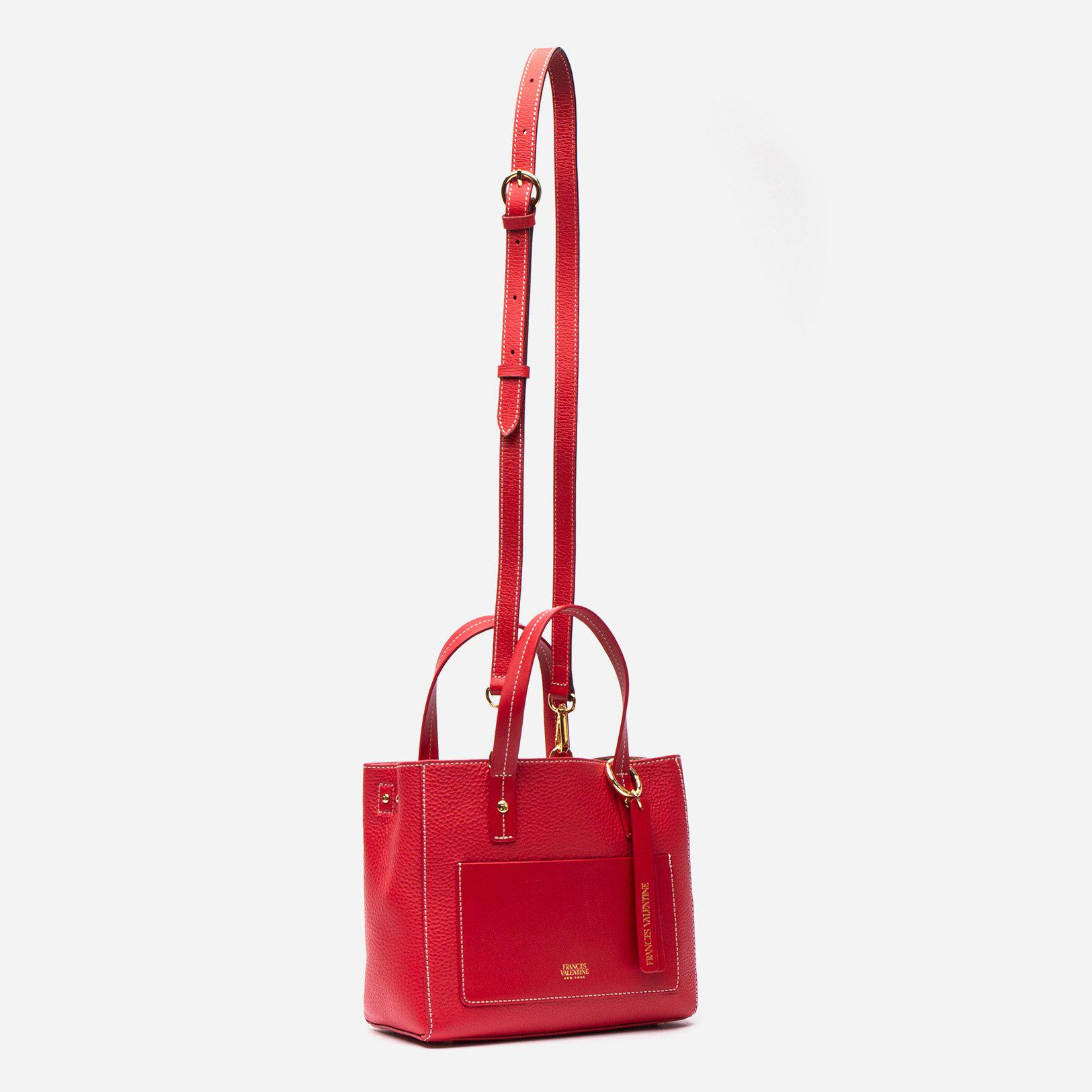 Small Chloe Tumbled Leather Red 1