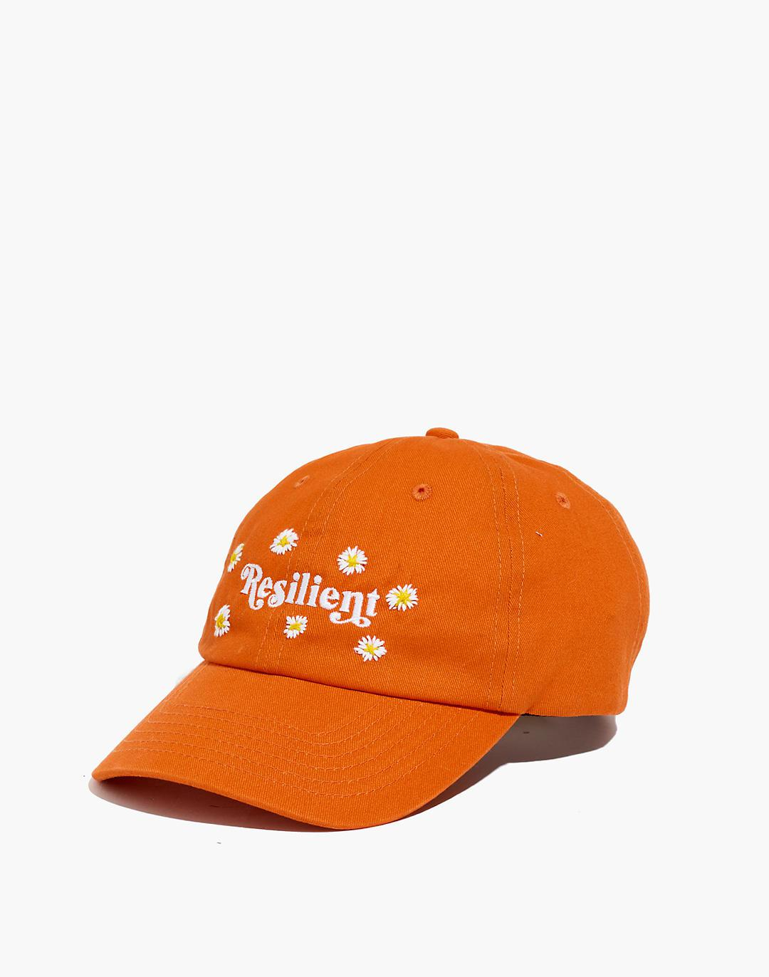 Feminist Goods Co. Daisies Embroidered Resilient Baseball Cap