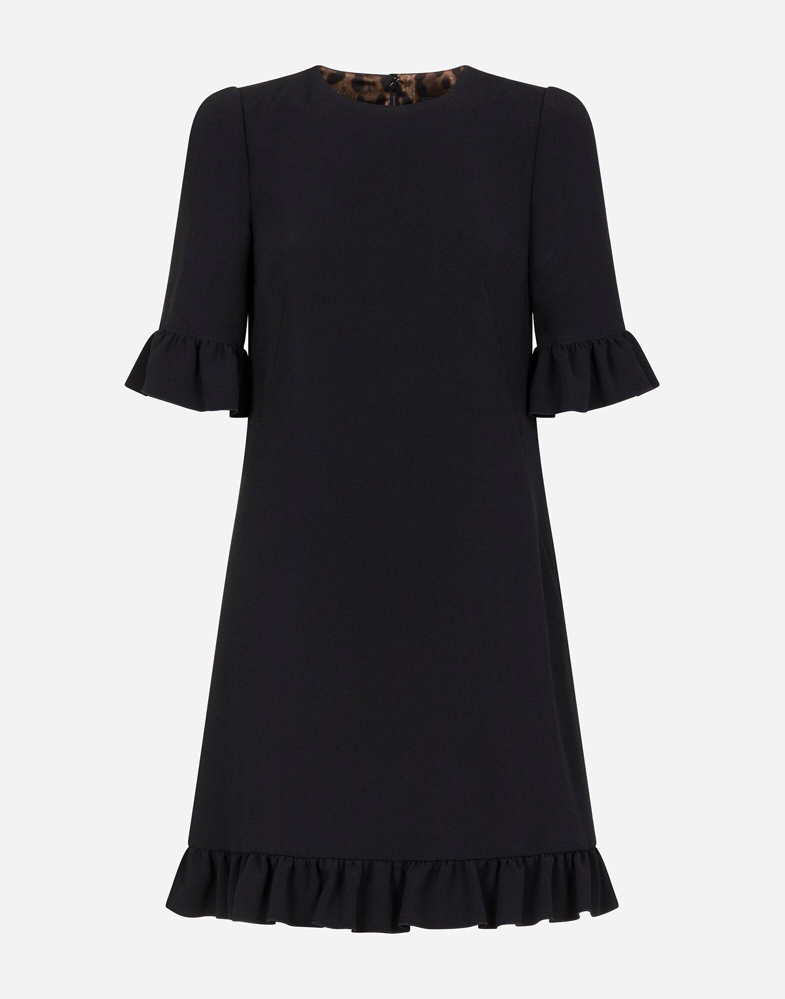 Short cady dress with ruche detailing 4