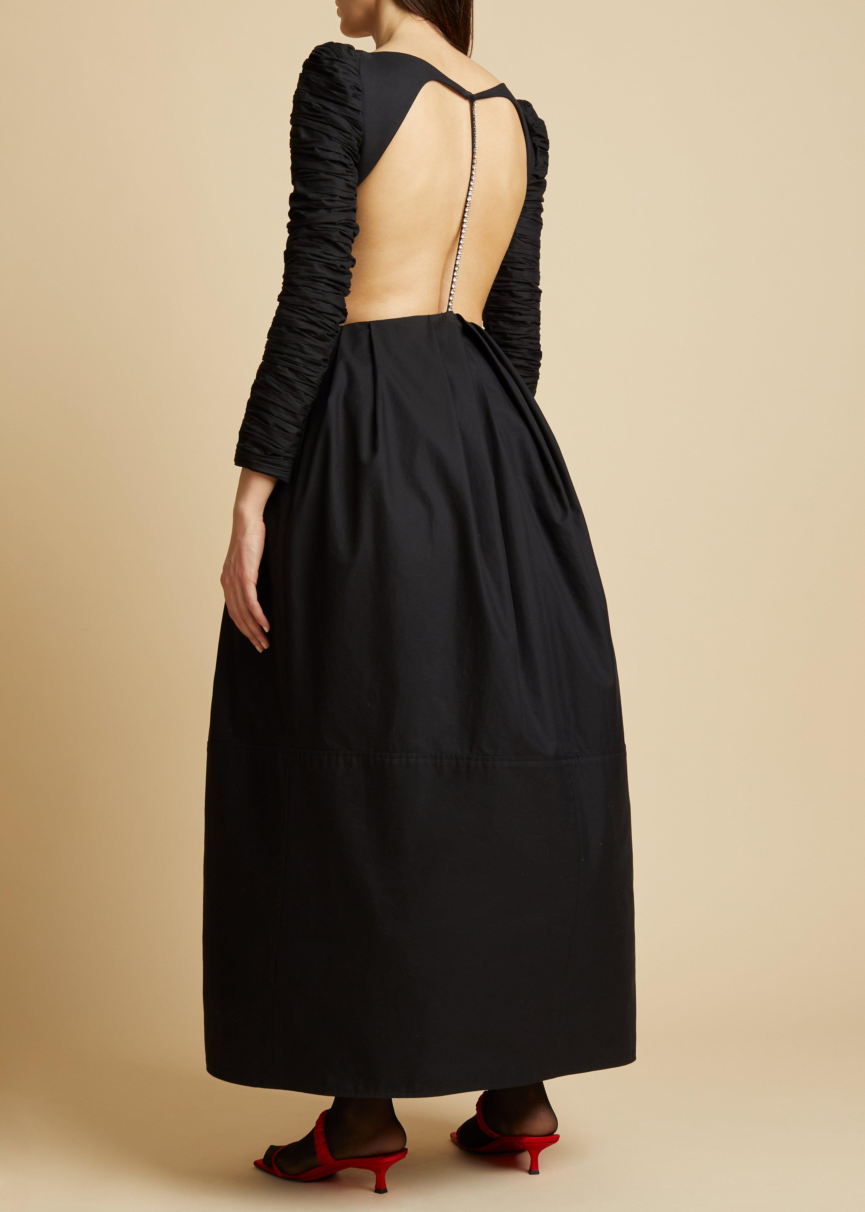 The Rosaline Dress with Petticoat in Black 2