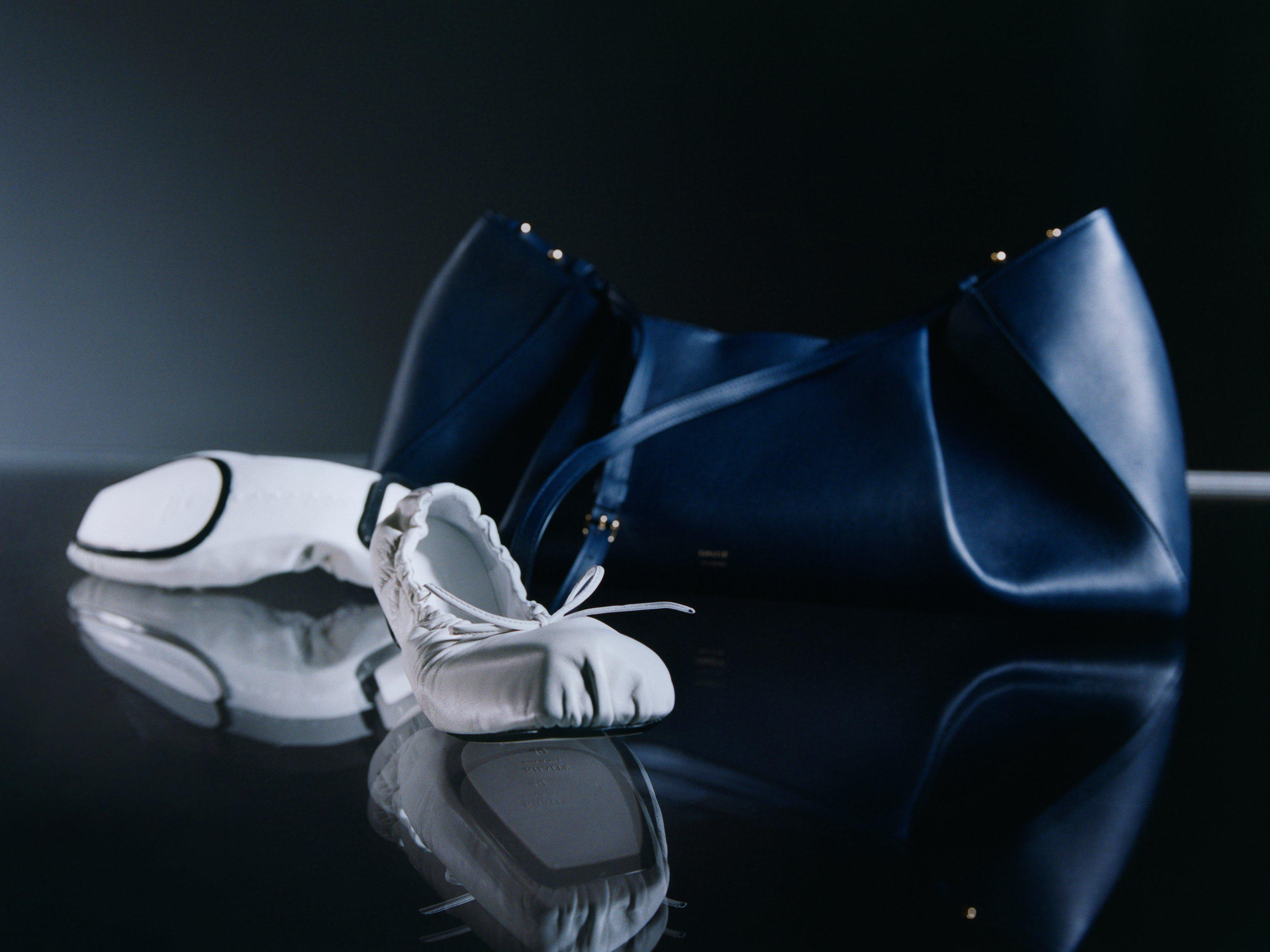 The Ashland Ballet Flat in White Leather 6
