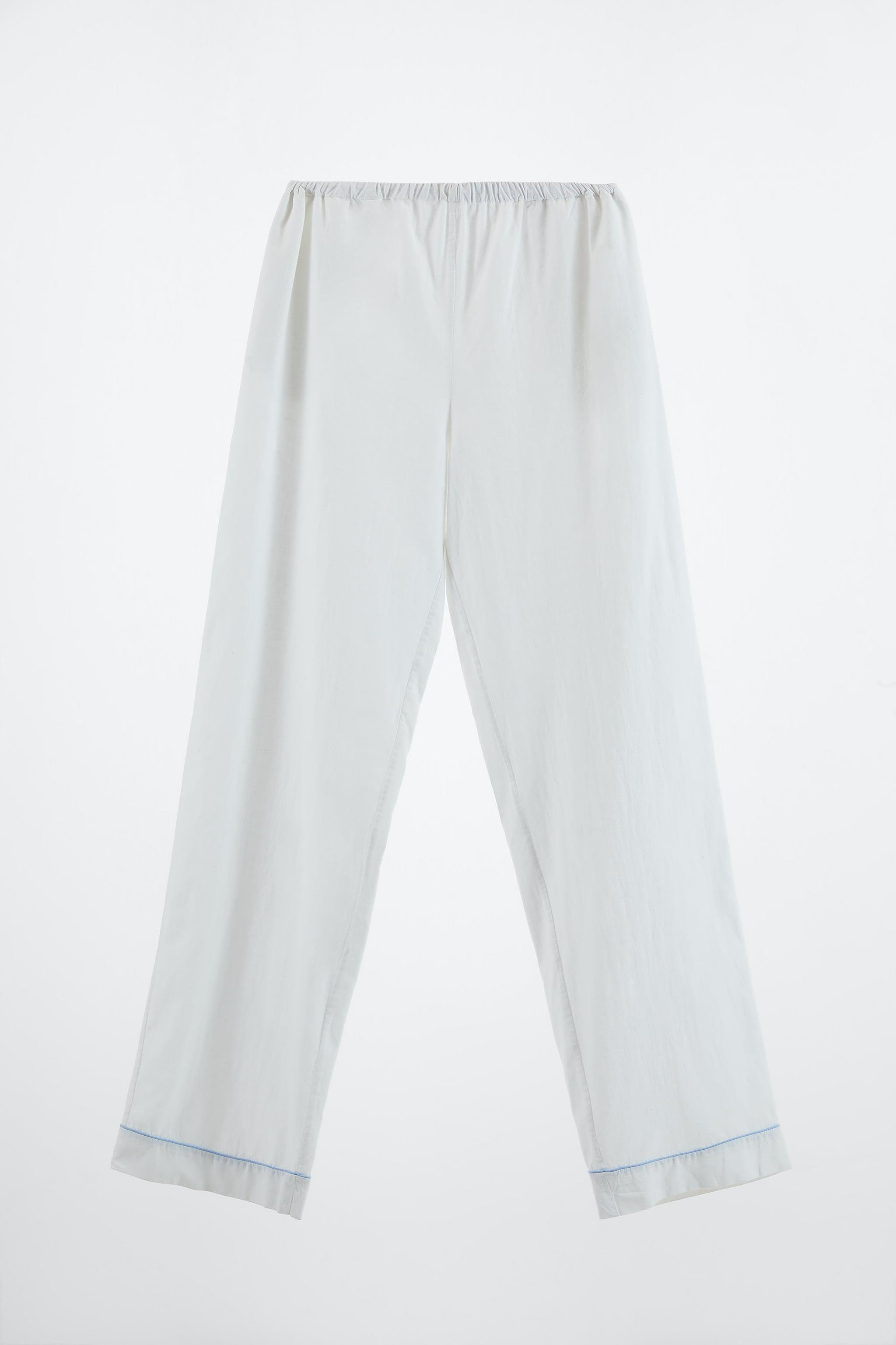 PIPED COTTON PANTS 3