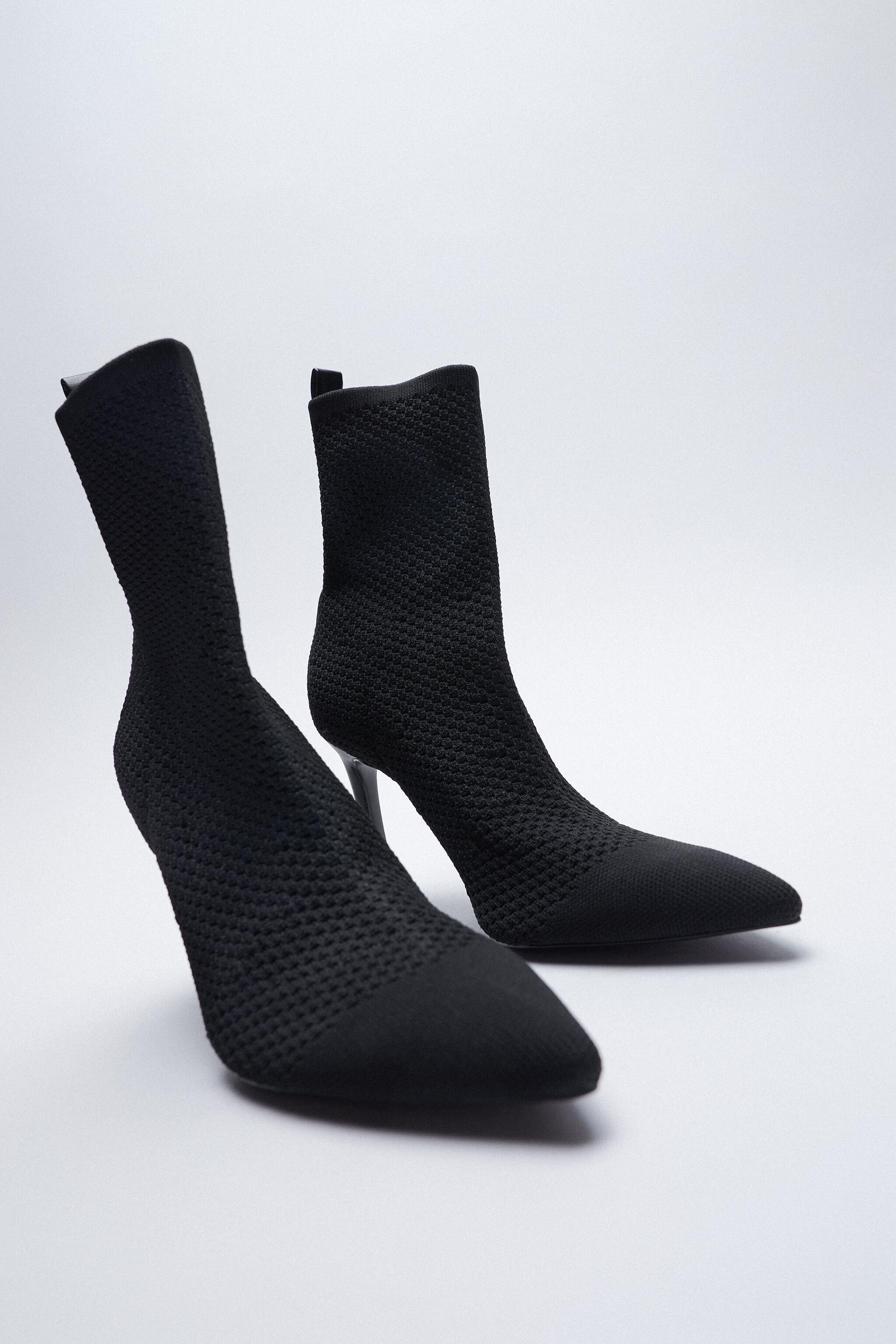 FABRIC HEELED ANKLE BOOTS 2