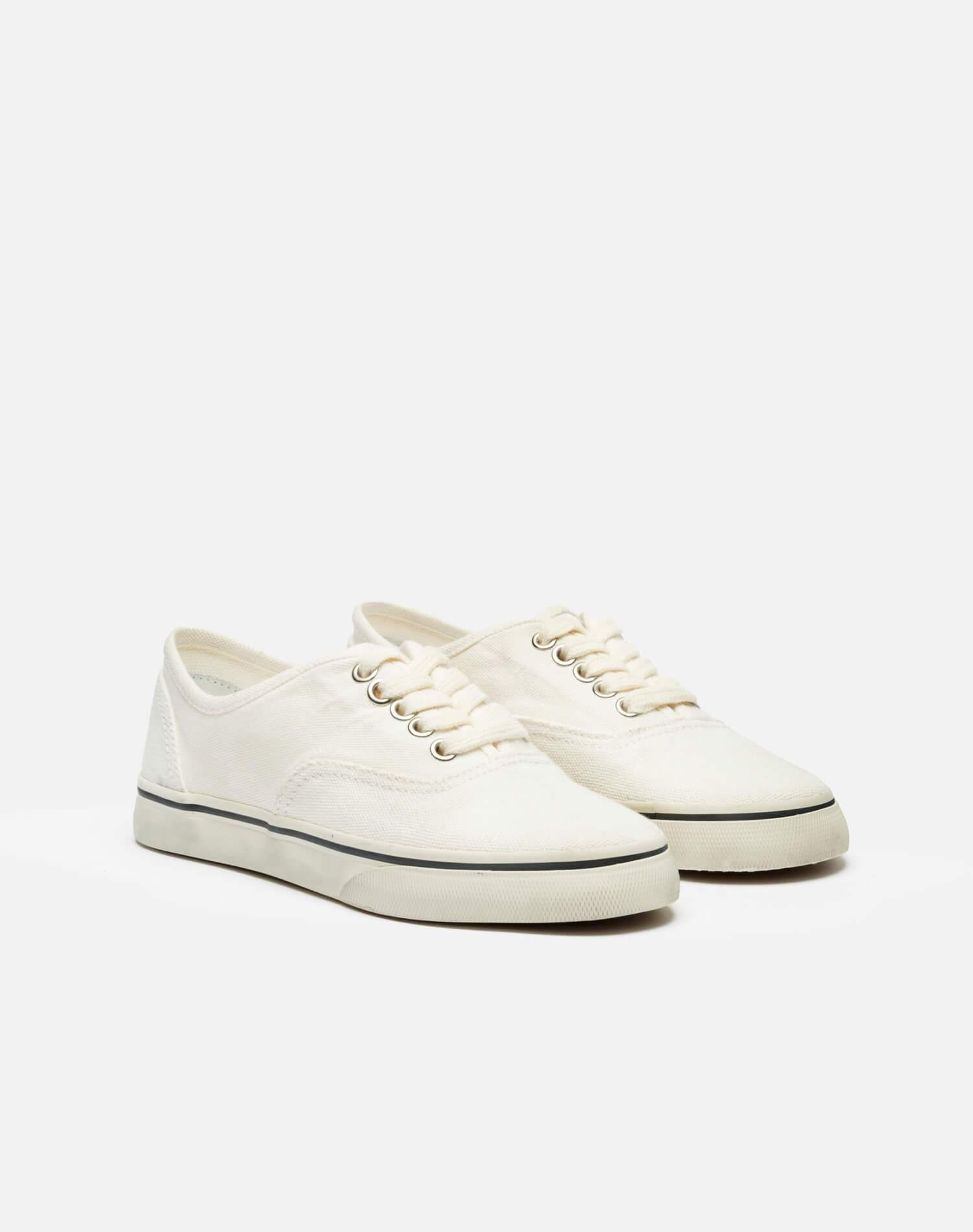 70s Low Top Skate - Washed Off White 1