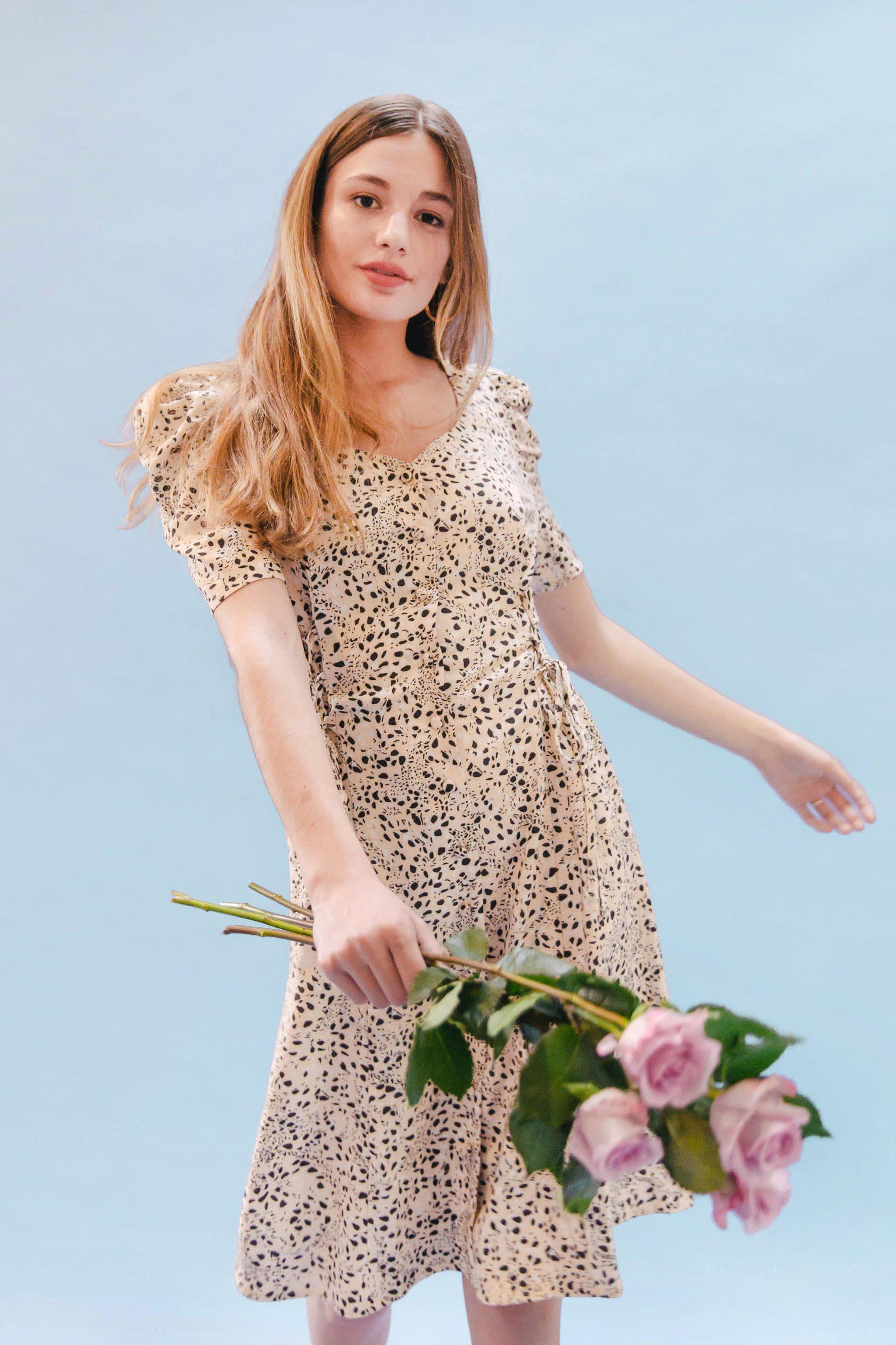 THE DOUBLE LACEUP DRESS ~ PURR 2
