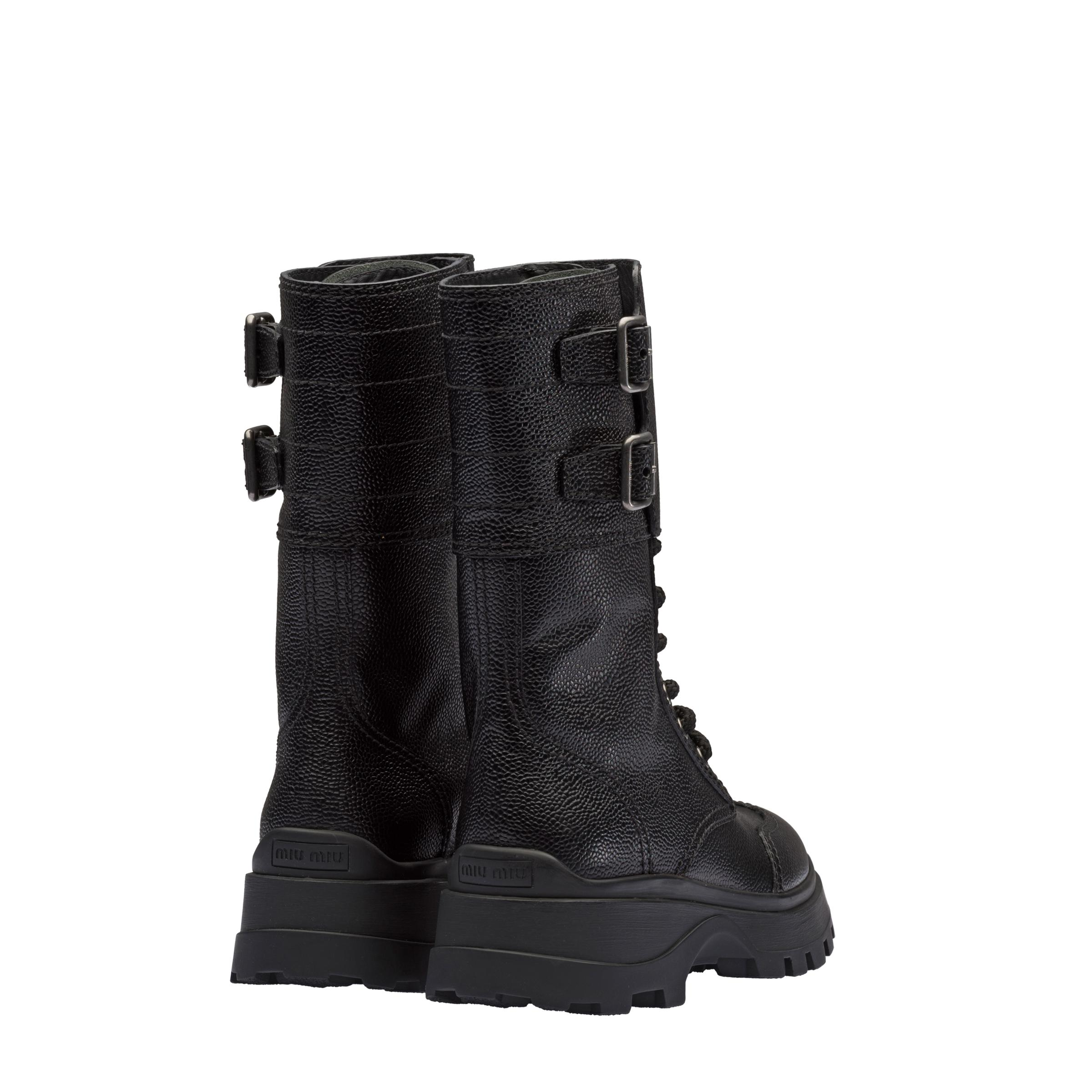 Leather Booties Women Black Size 35 3