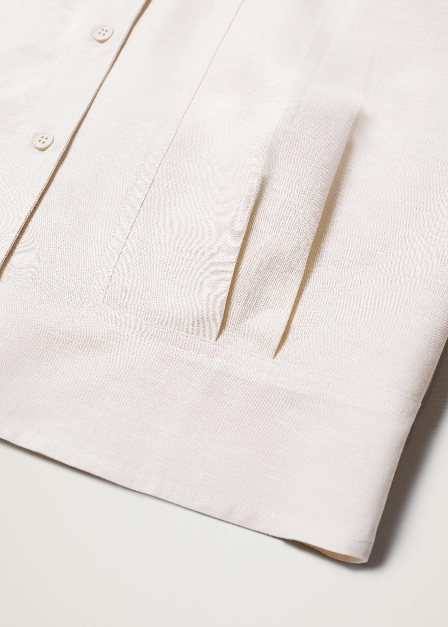 Pleated cropped shirt 6
