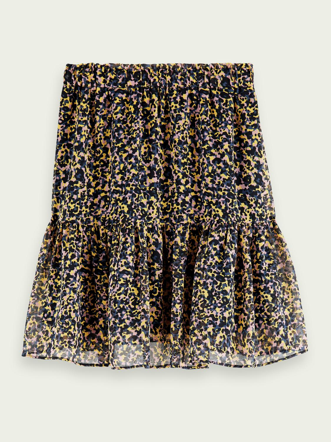 Printed recycled polyester-blend skirt 7