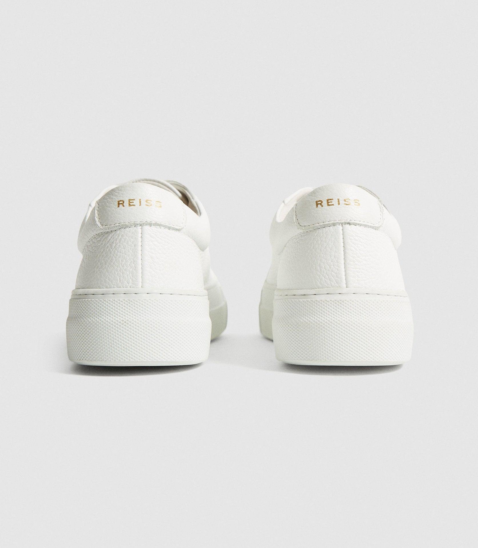 LUCA - PLATFORM TUMBLED LEATHER SNEAKERS 3