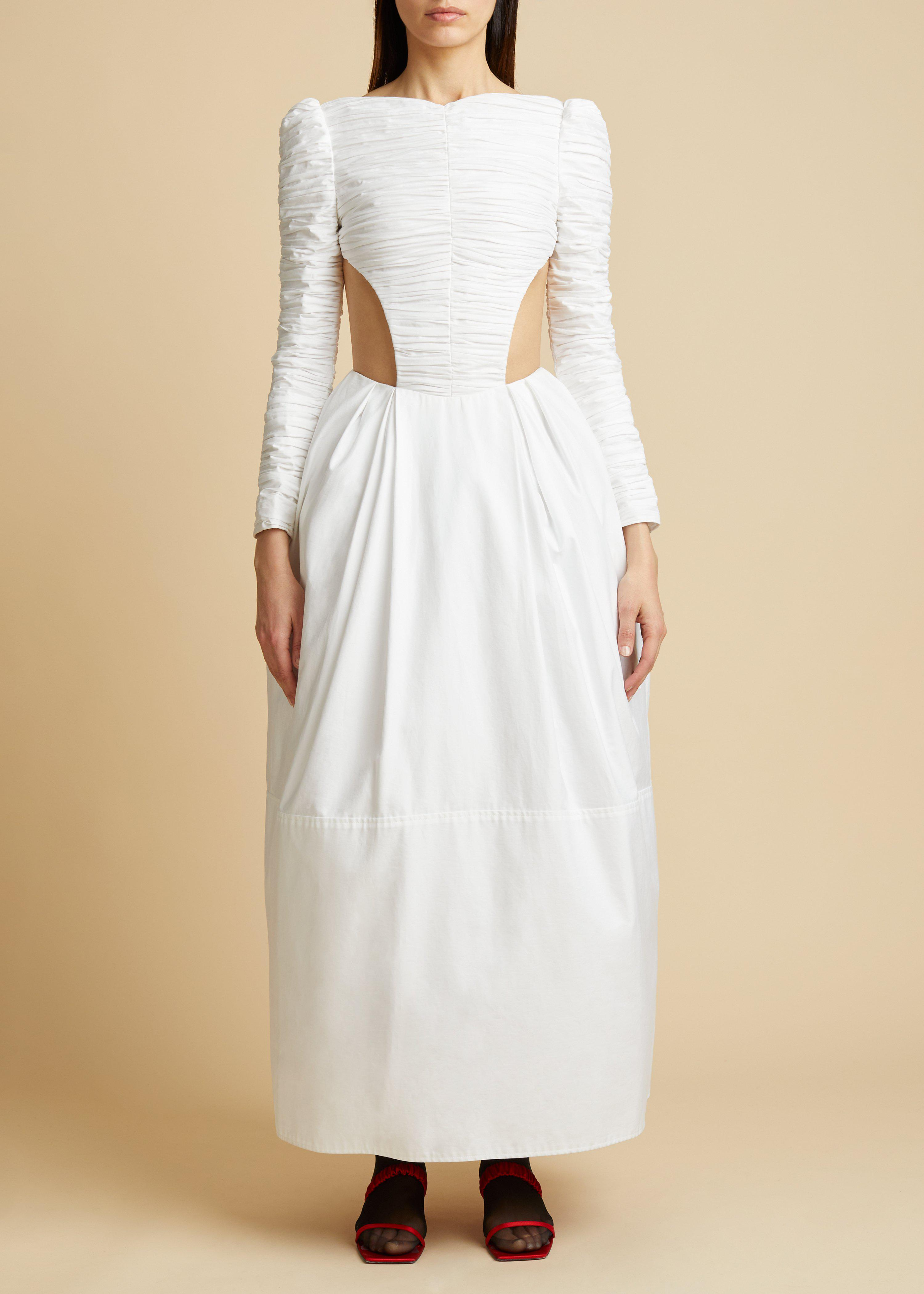 The Rosaline Dress with Petticoat in White 1
