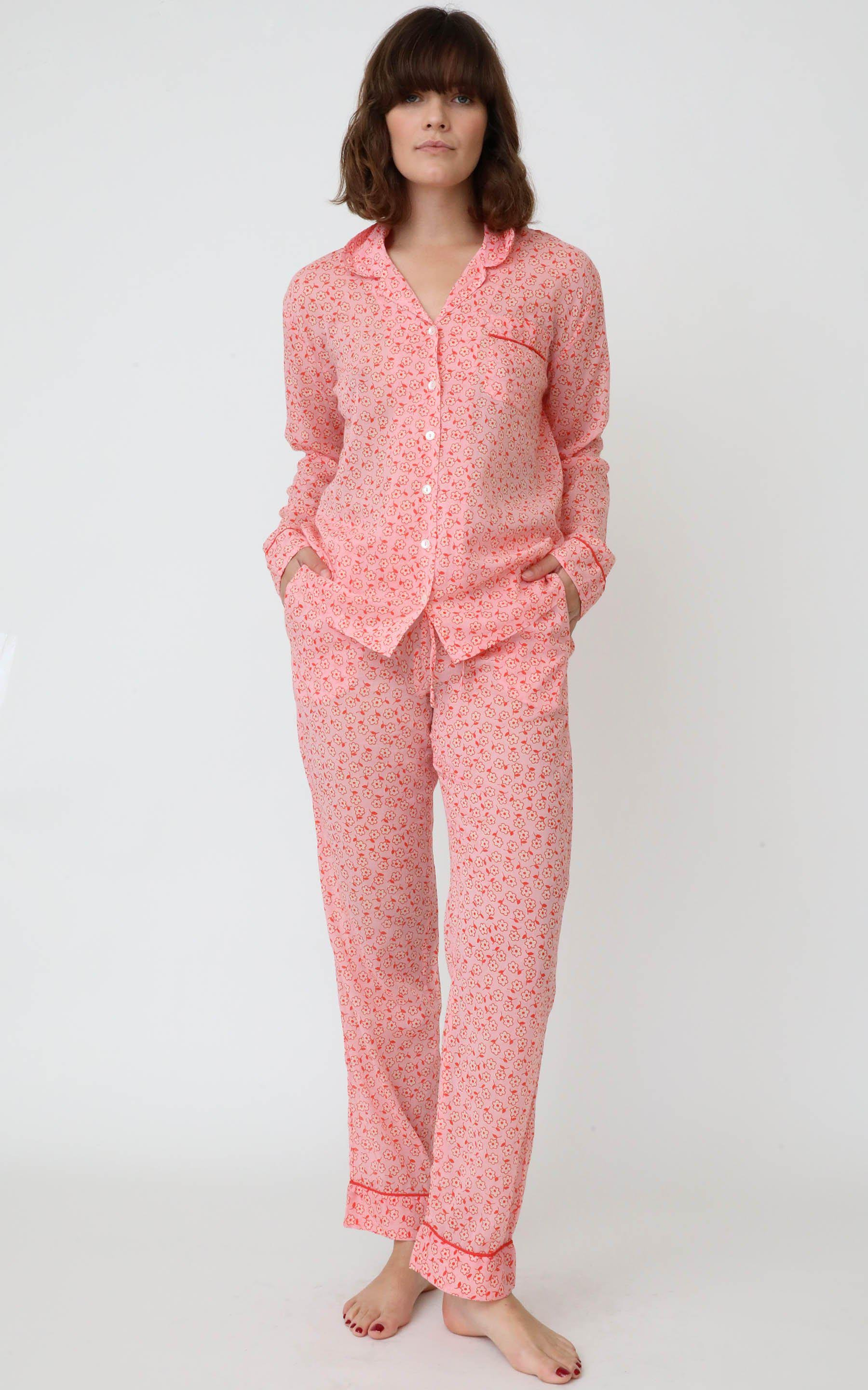 Moondust Pajamas Scattered Daisy Orchid Pink