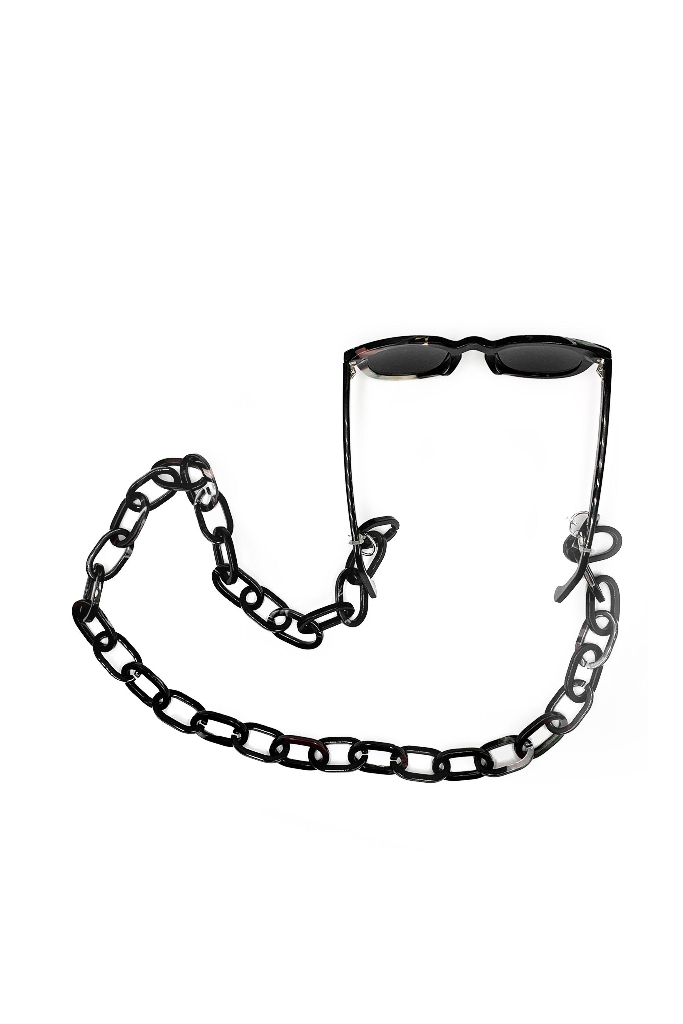 Recycled Acetate Sunglass Chain in Emerald