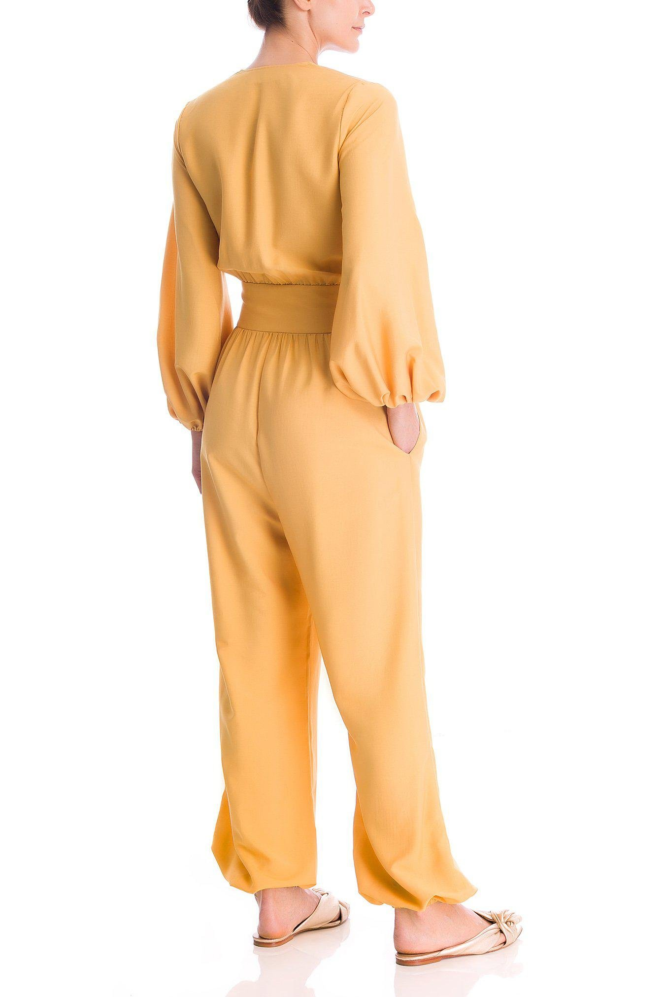 Solid Jumpsuit With Knot 2