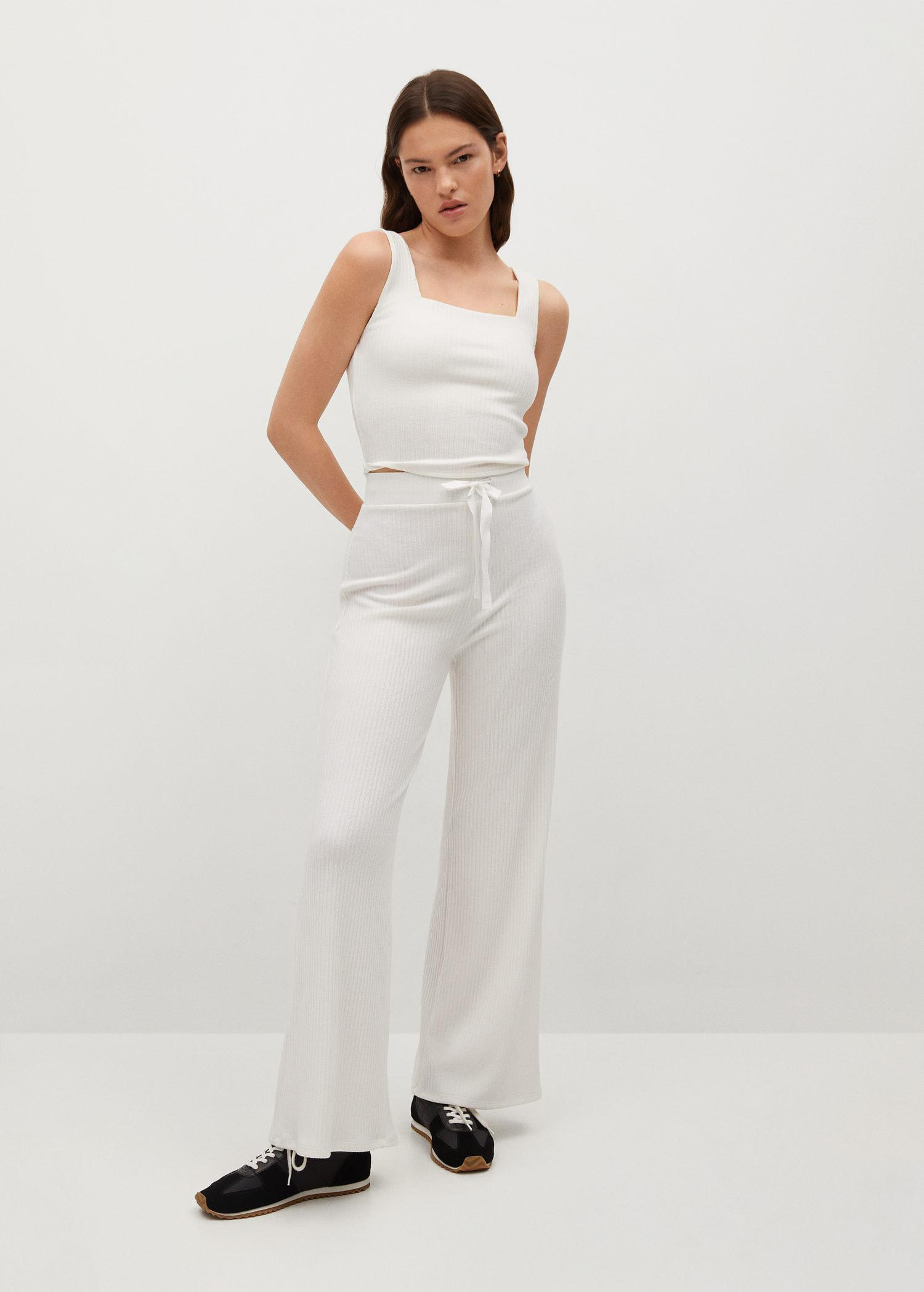 Ribbed knit trousers 1