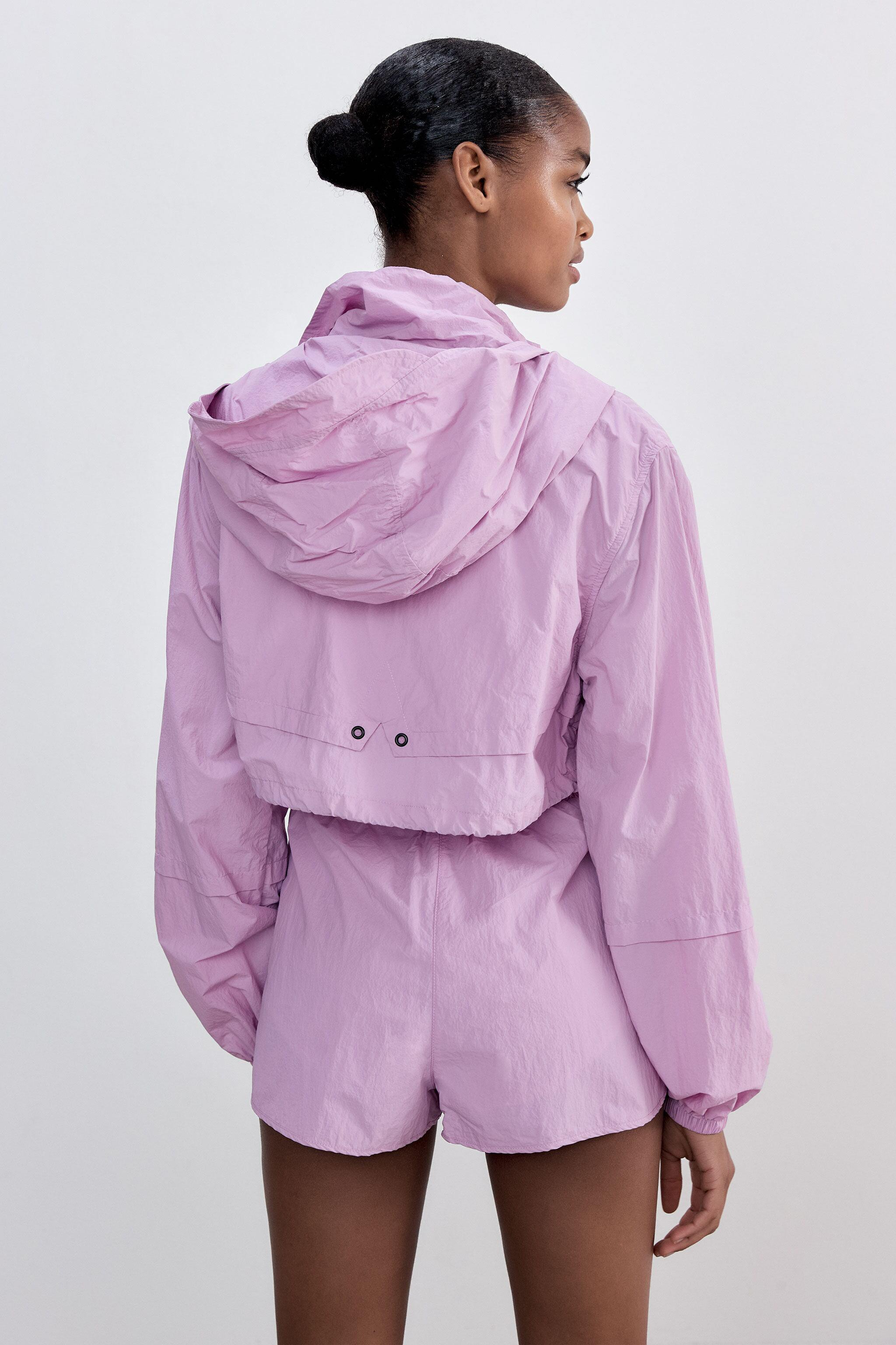 CROPPED RAINCOAT WITH ZIPPERS 3