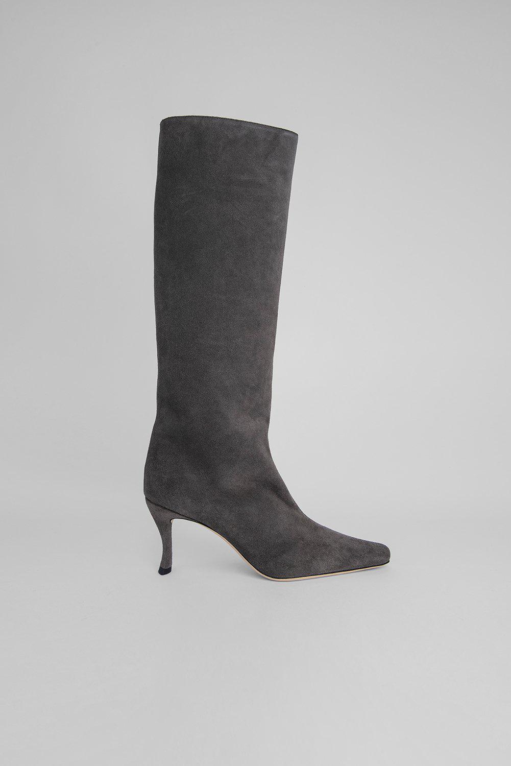 Stevie 42 Anthracite Suede Leather