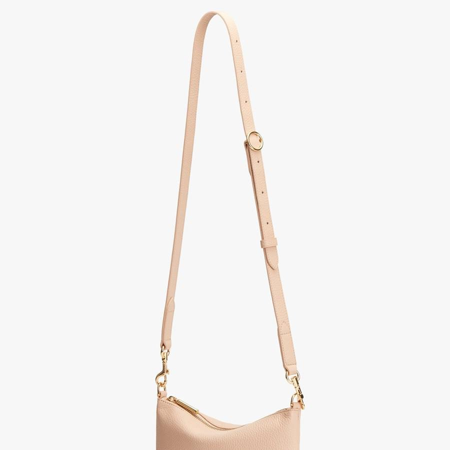 Women's Adjustable Strap in Blush Pink   Pebbled Leather by Cuyana 3