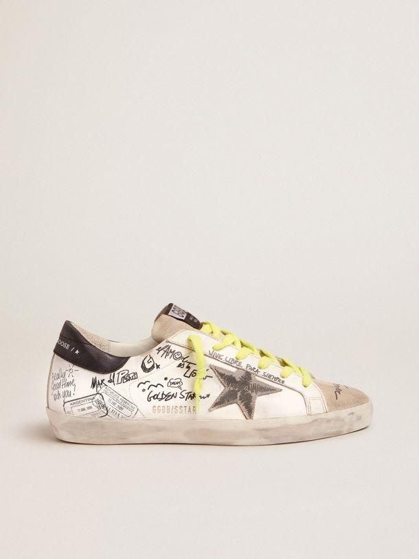 Women's Journey Super-Star sneakers with graffiti