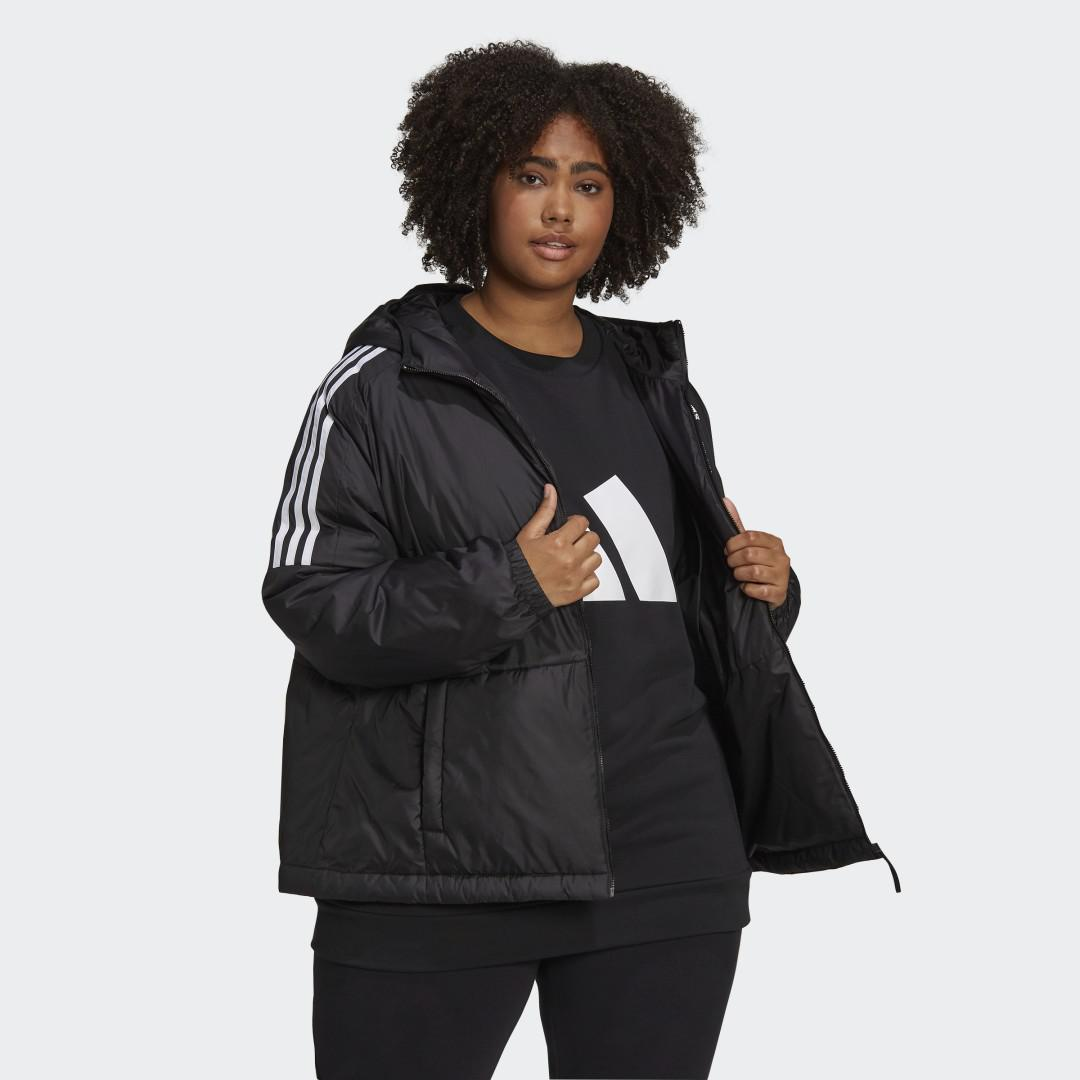 Essentials Insulated Hooded Jacket (Plus Size) Black