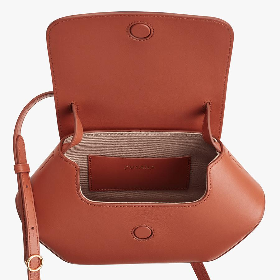 Women's Mini Hexagon Crossbody Bag in Sienna | Smooth Leather by Cuyana 1