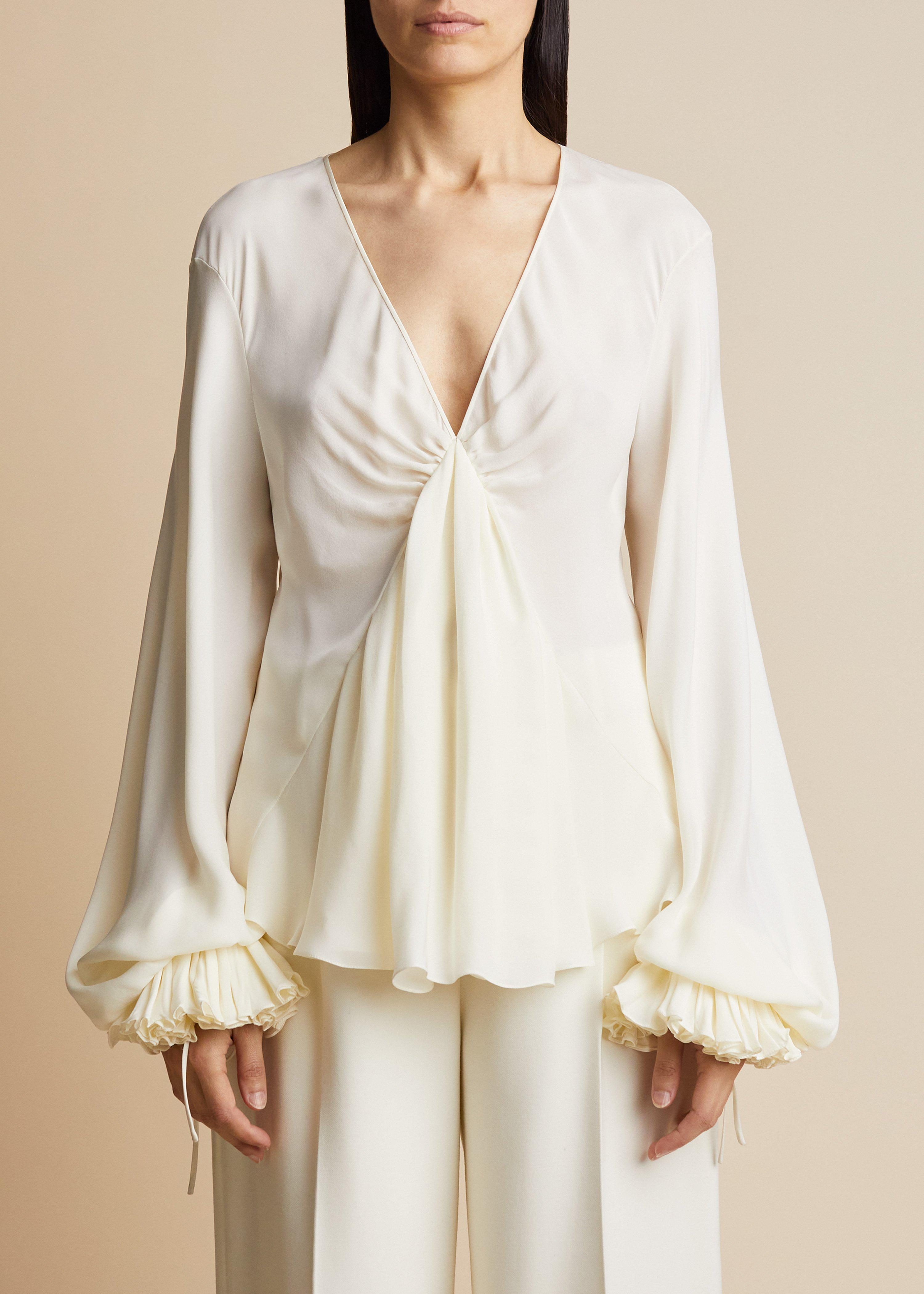 The Mari Top in Ivory