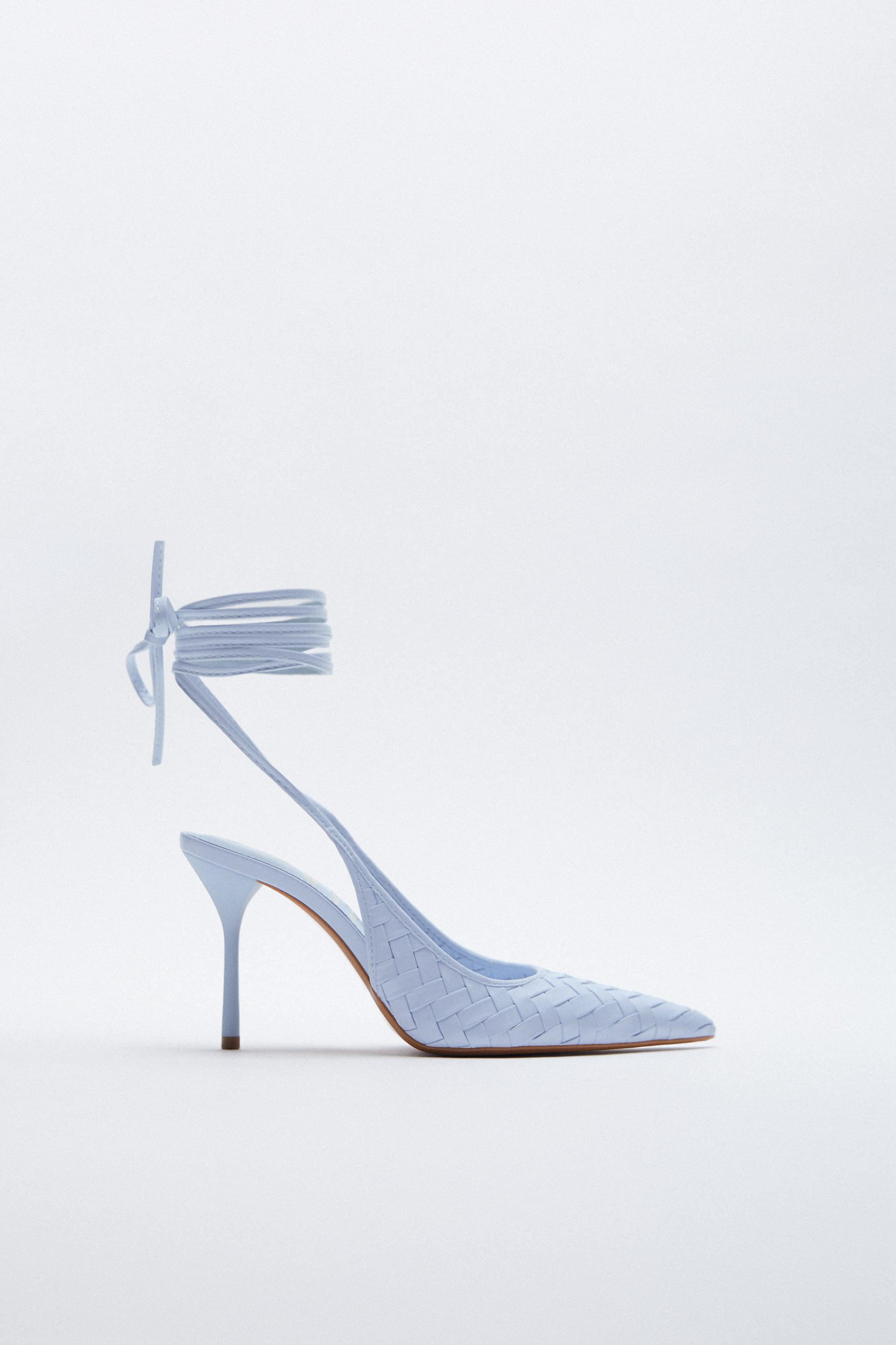 WOVEN HEELS WITH ANKLE STRAP 1