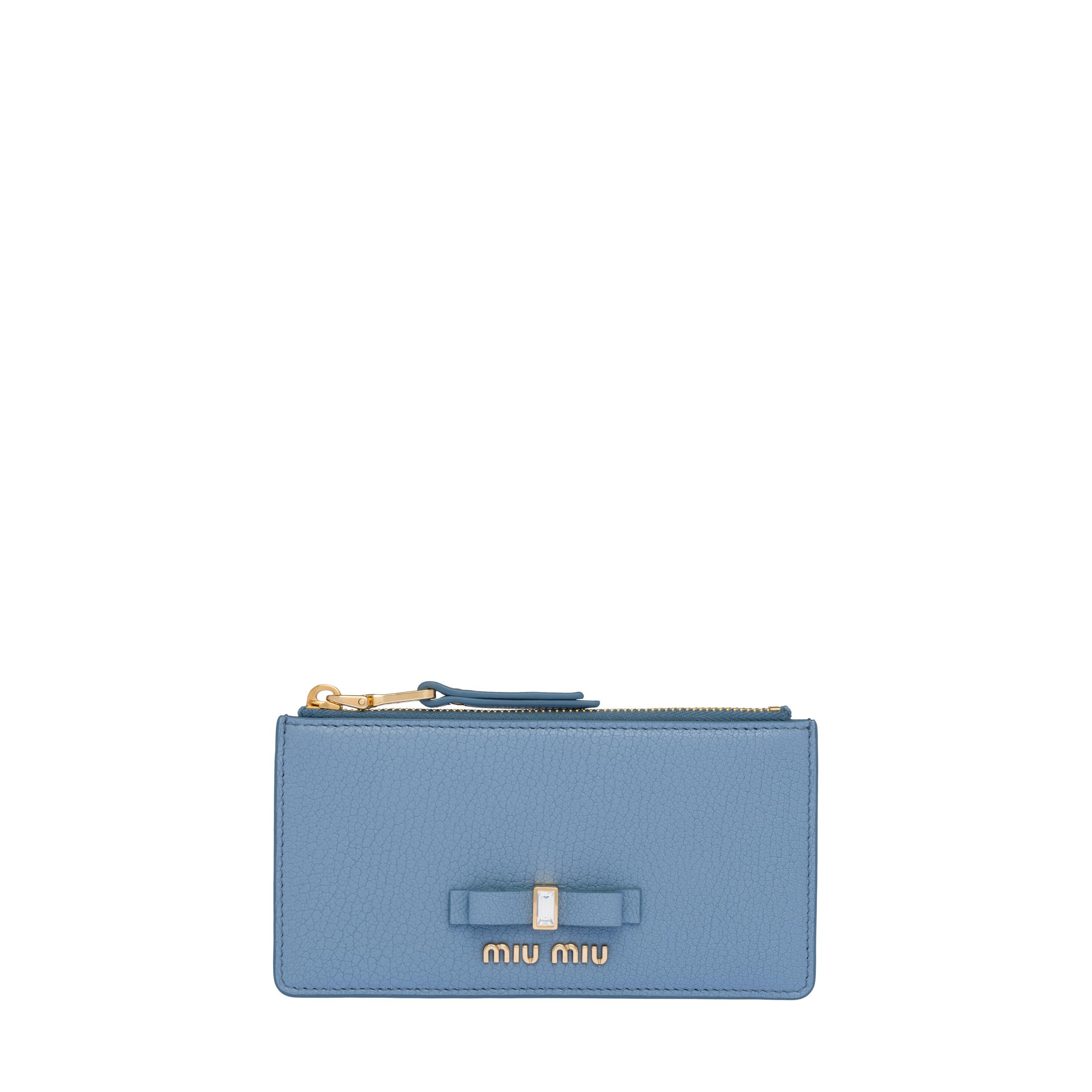Madras Leather Coin Purse Women Astral Blue