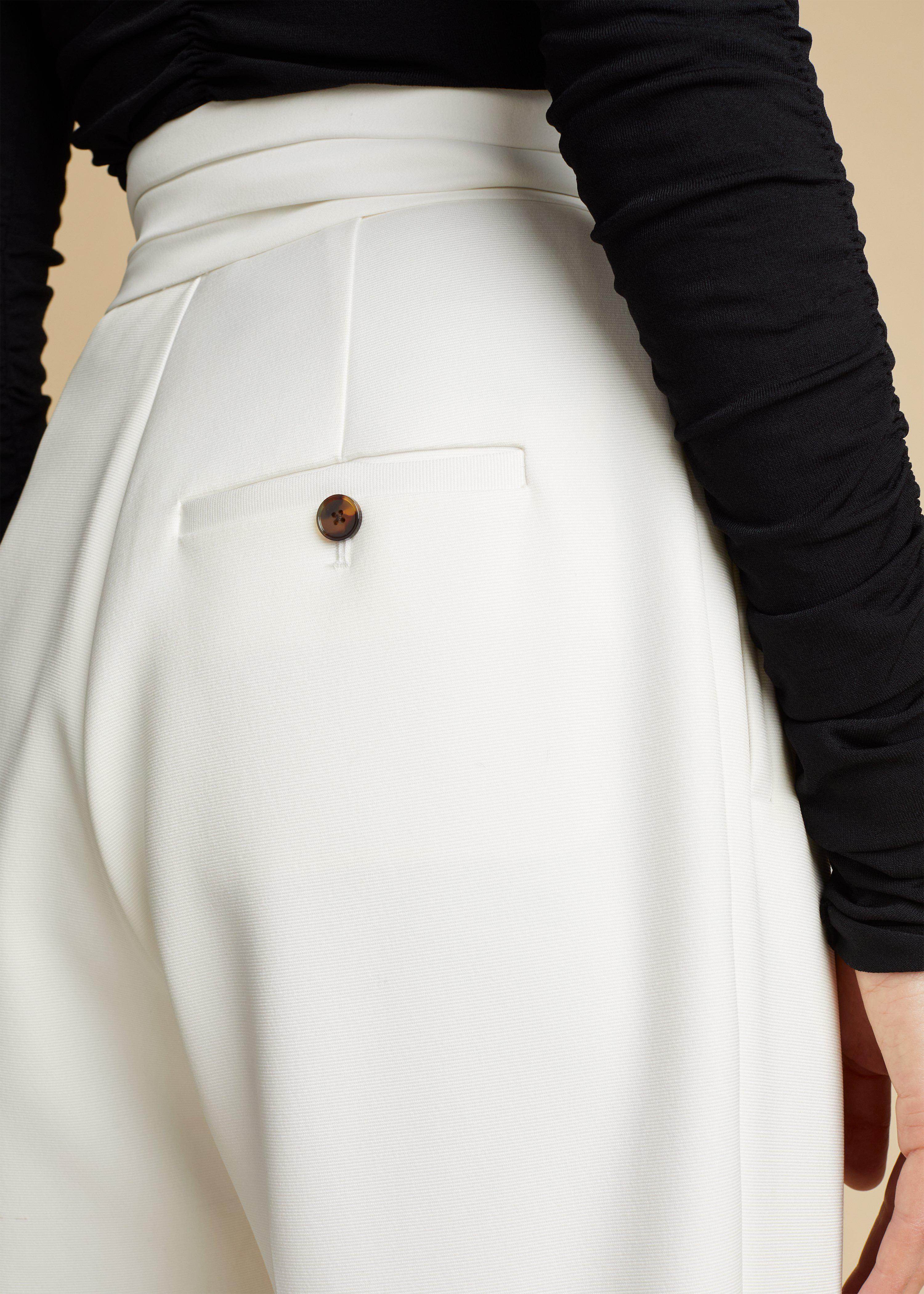The Connelly Pant in Ivory 5