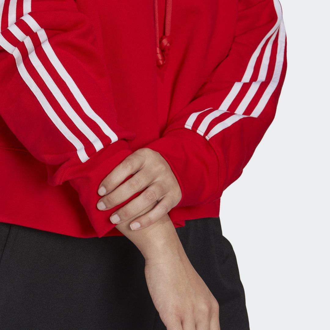 Adicolor Classics Cropped Hoodie (Plus Size) Red 6