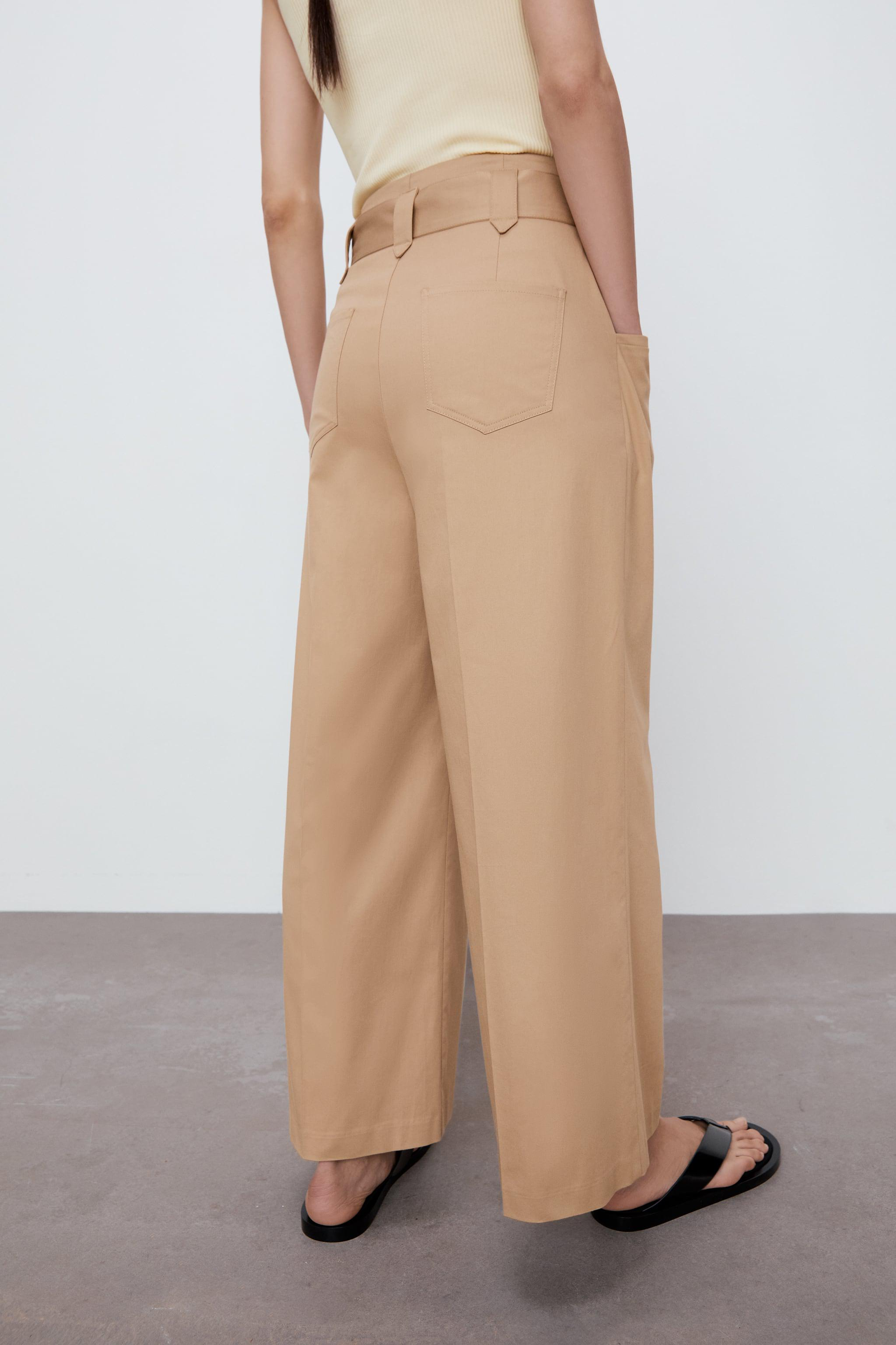 WIDE LEG BELTED PANTS 3