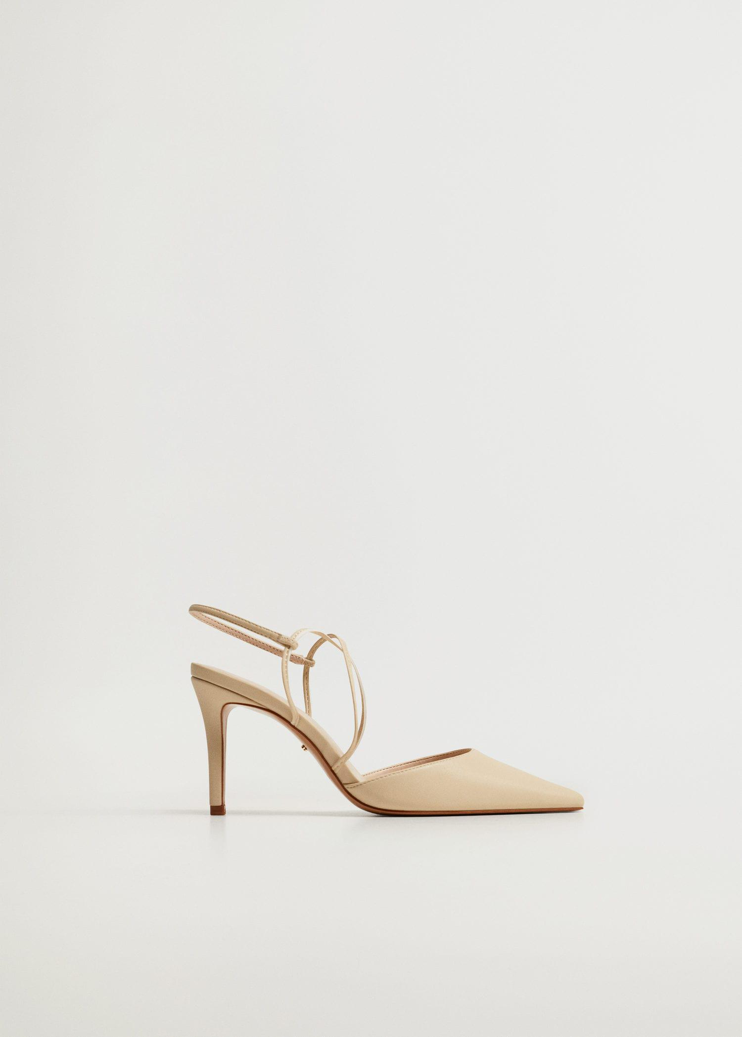 High-heeled shoes with straps