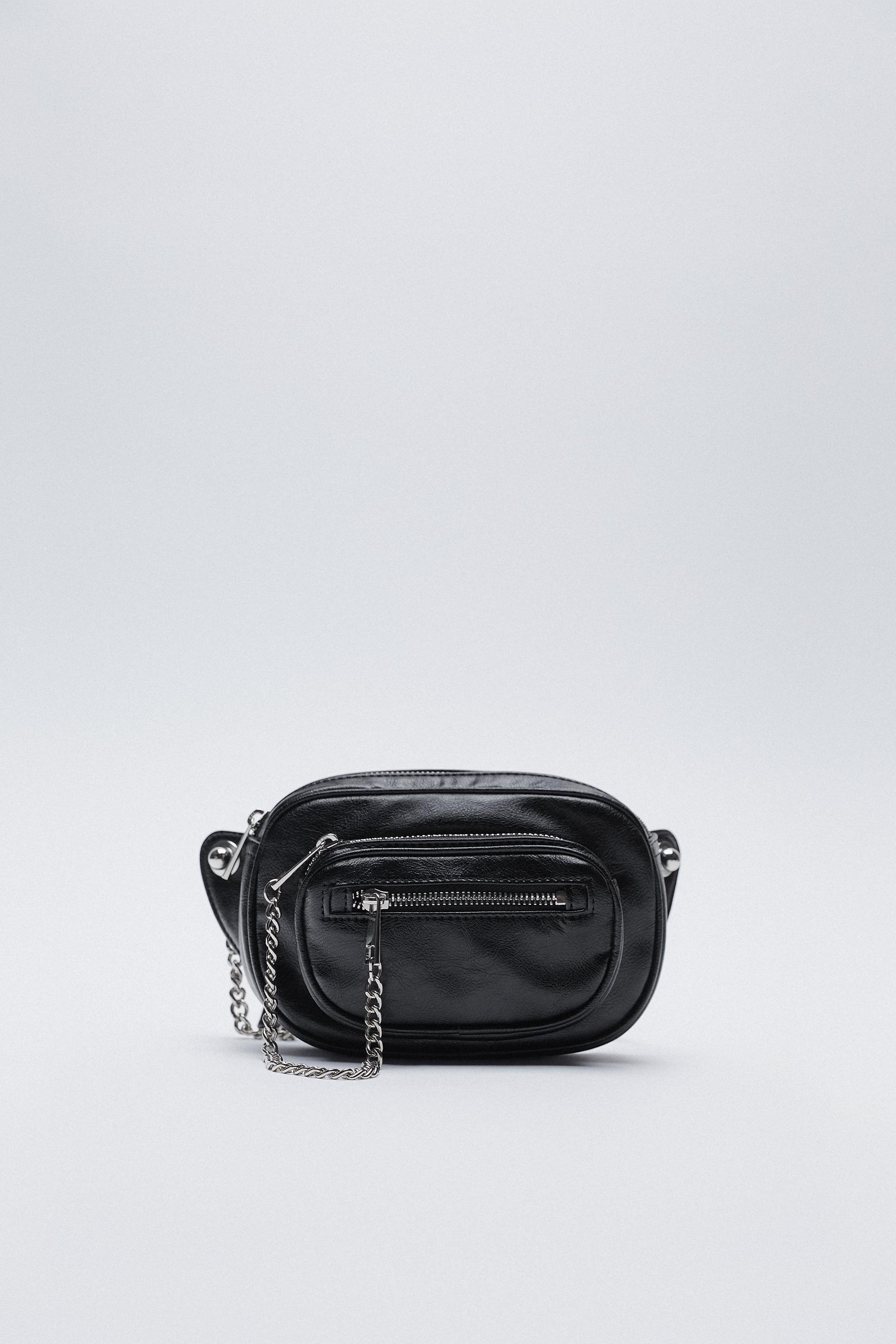 BELT BAG WITH POCKETS AND CHAIN