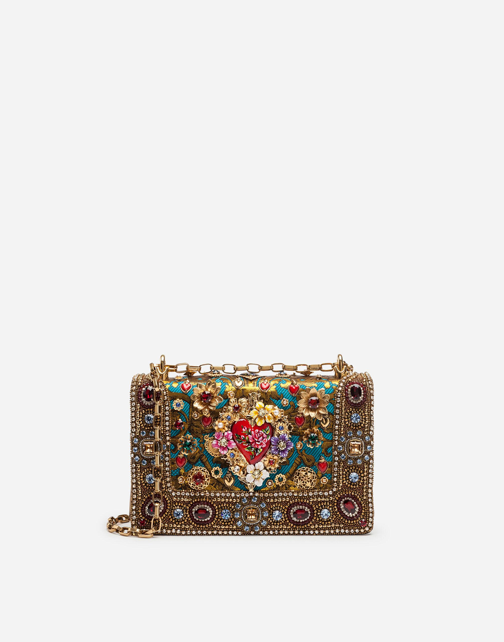DG Girls bag in ornamental jacquard with embroidery and appliqués
