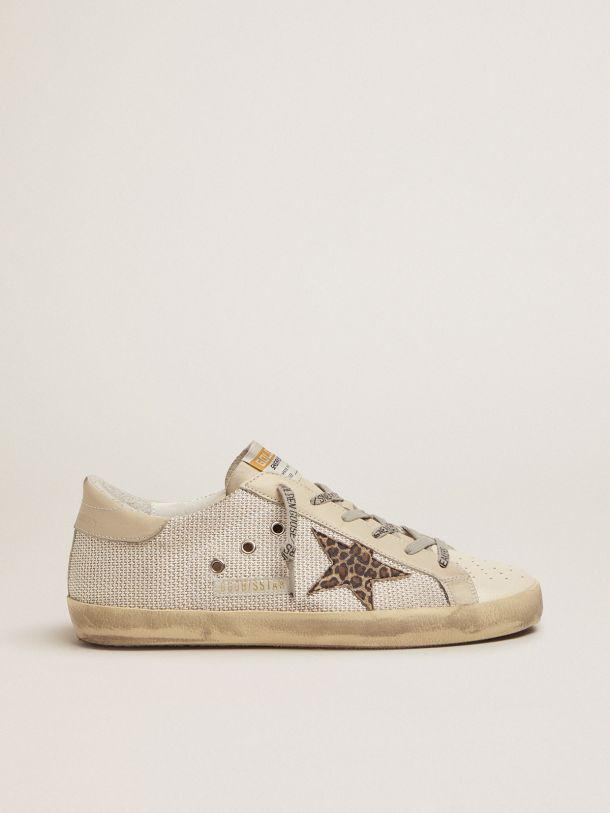 Super-Star sneakers in mesh with leopard-print star