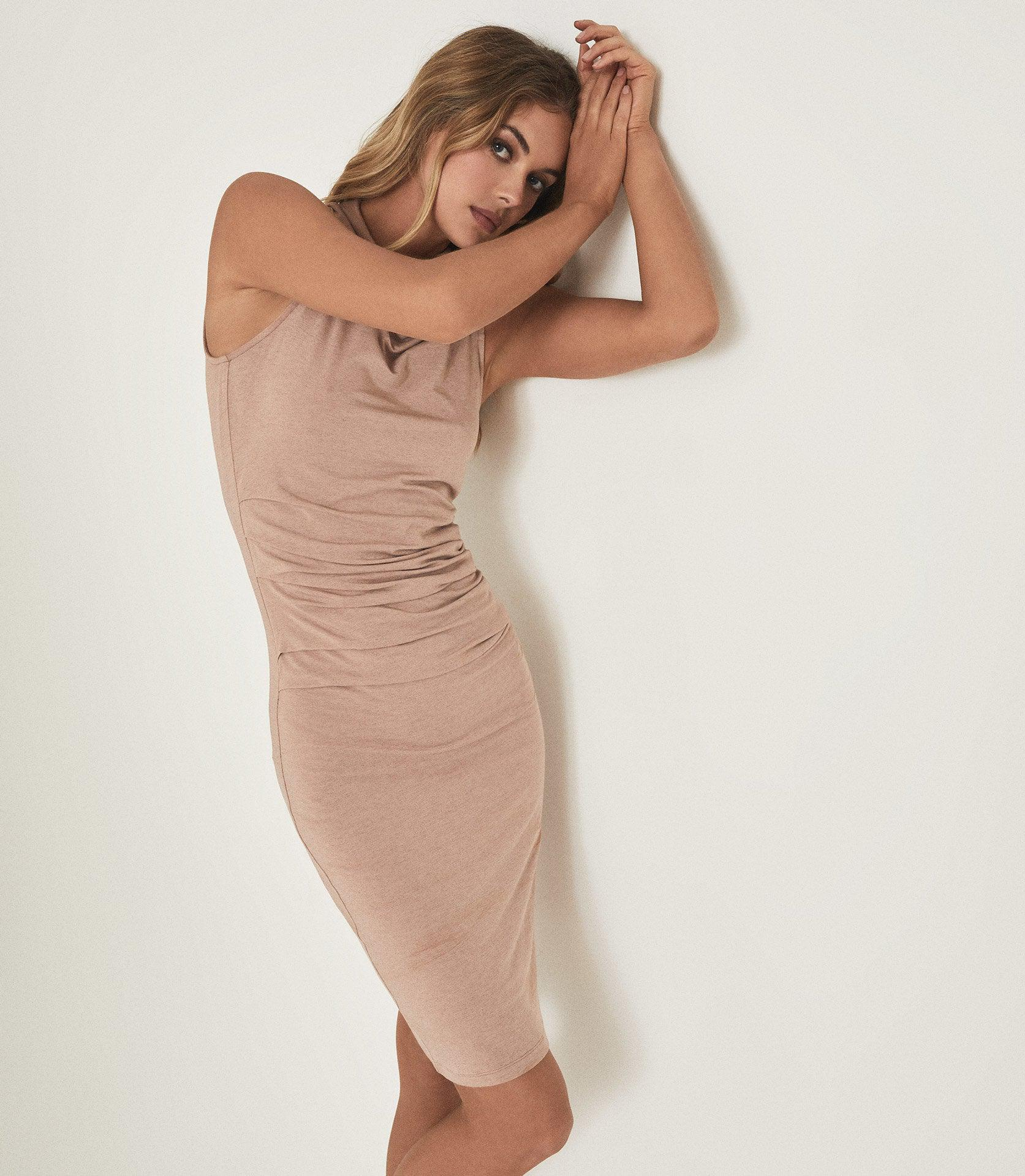 TORA - RUCHED WOOL-JERSEY BODYCON DRESS 3