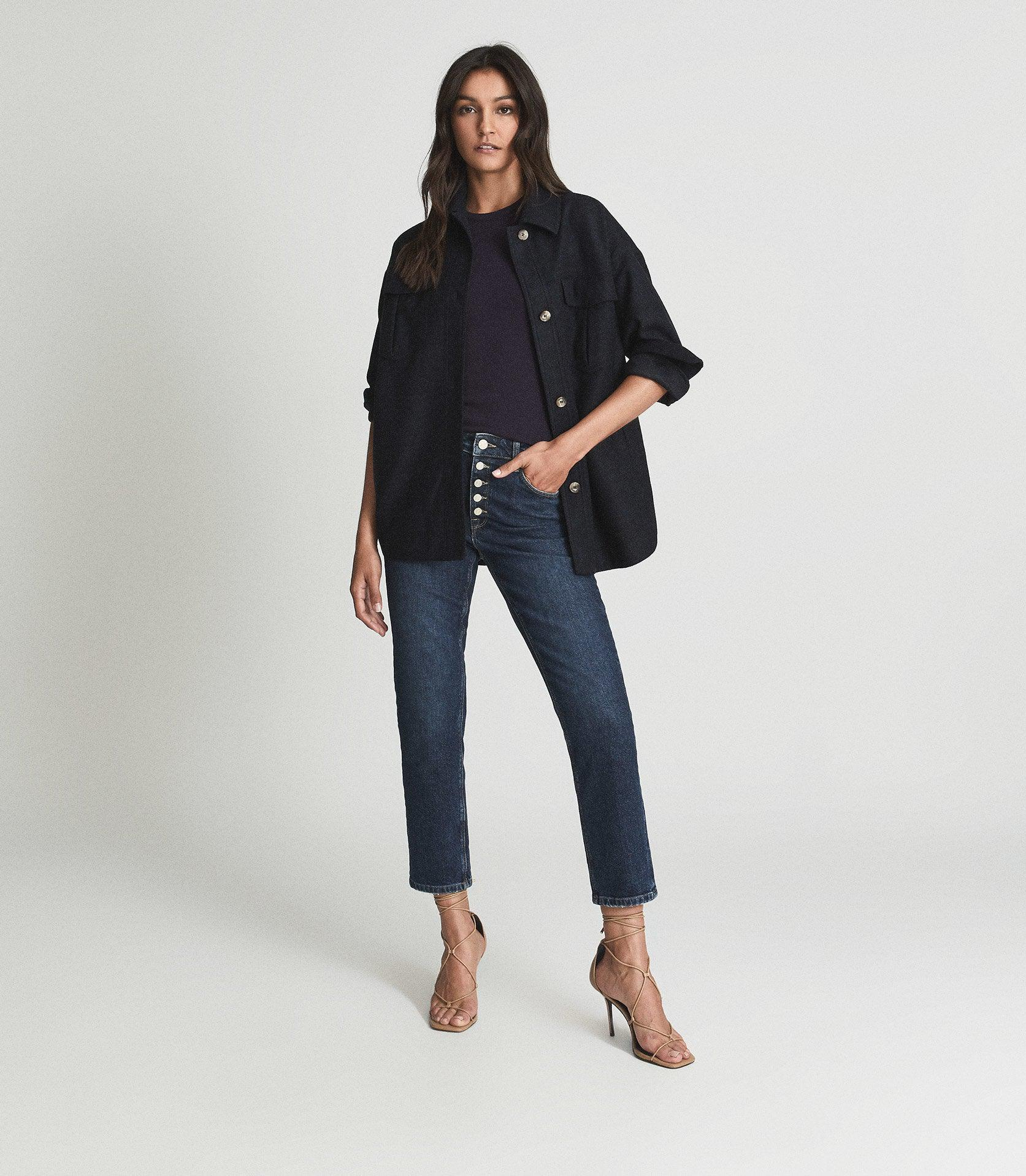 BAILEY - MID RISE SLIM CROPPED JEANS 0