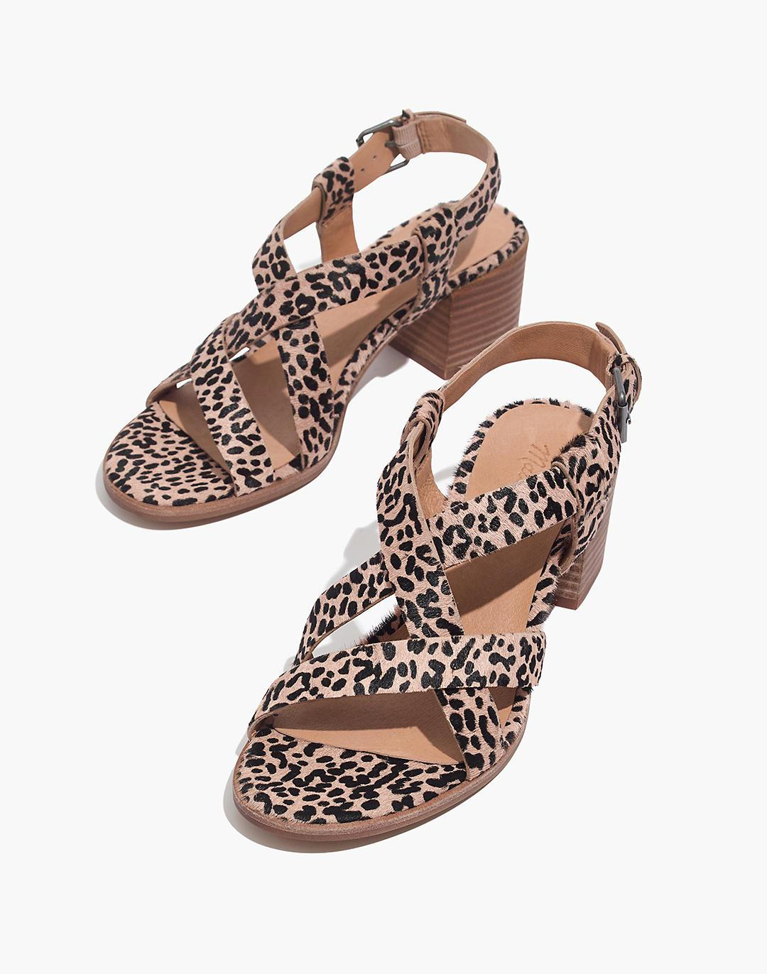 The Alyssa Sandal in Spotted Calf Hair