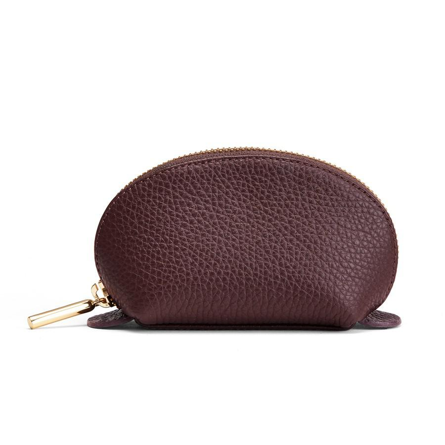Women's Mini Travel Case in Burgundy | Pebbled Leather by Cuyana