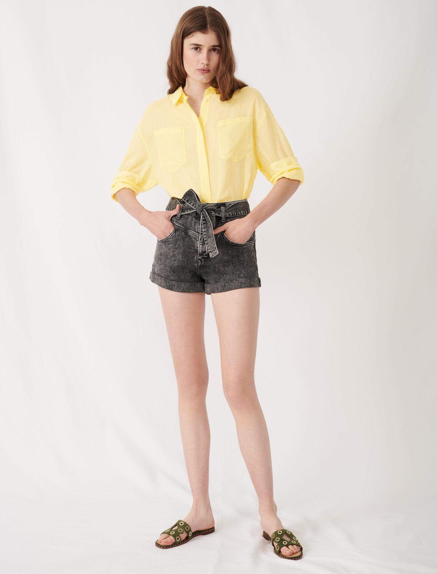 BELTED FADED SHORTS