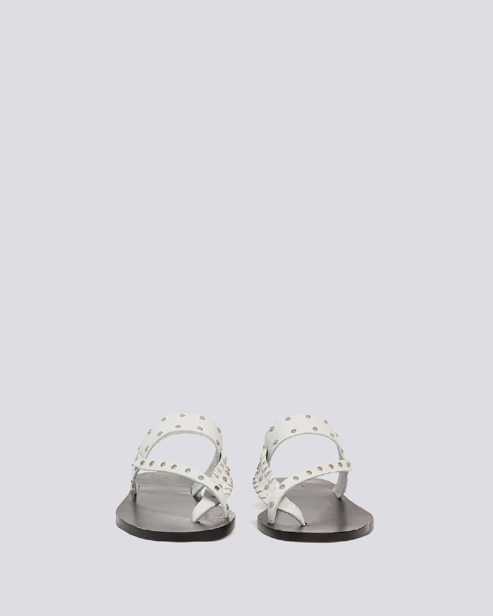 WIKI TOE RING FLAT LEATHER SANDALS 2