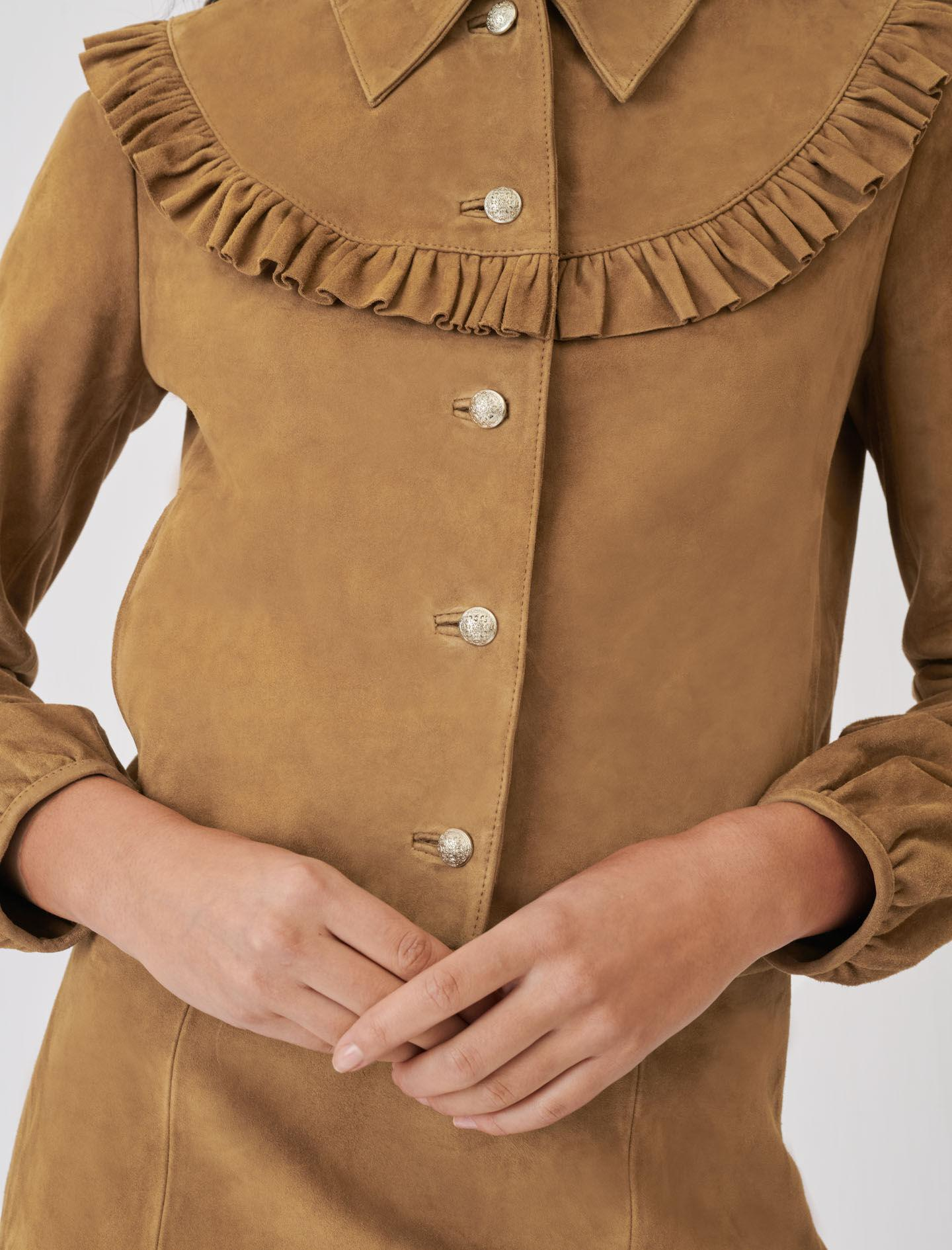 SUEDE JACKET WITH RUFFLES 2
